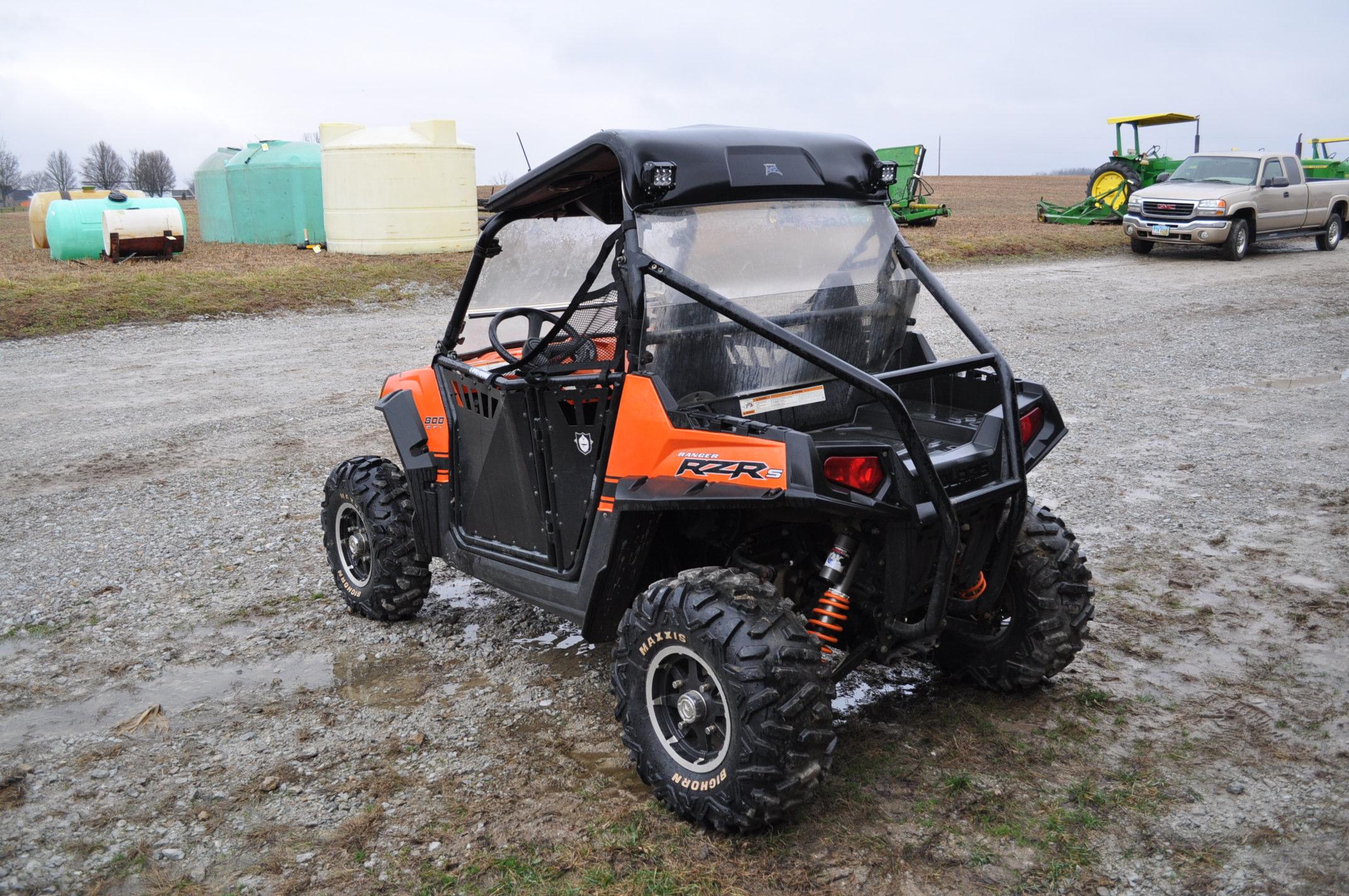 2010 Polaris Ranger RZR, 800 EFI, AT26 x 12 R 12 rear, AT26 x 9 R 12 front, half doors, 102 hrs, 899 - Image 2 of 9