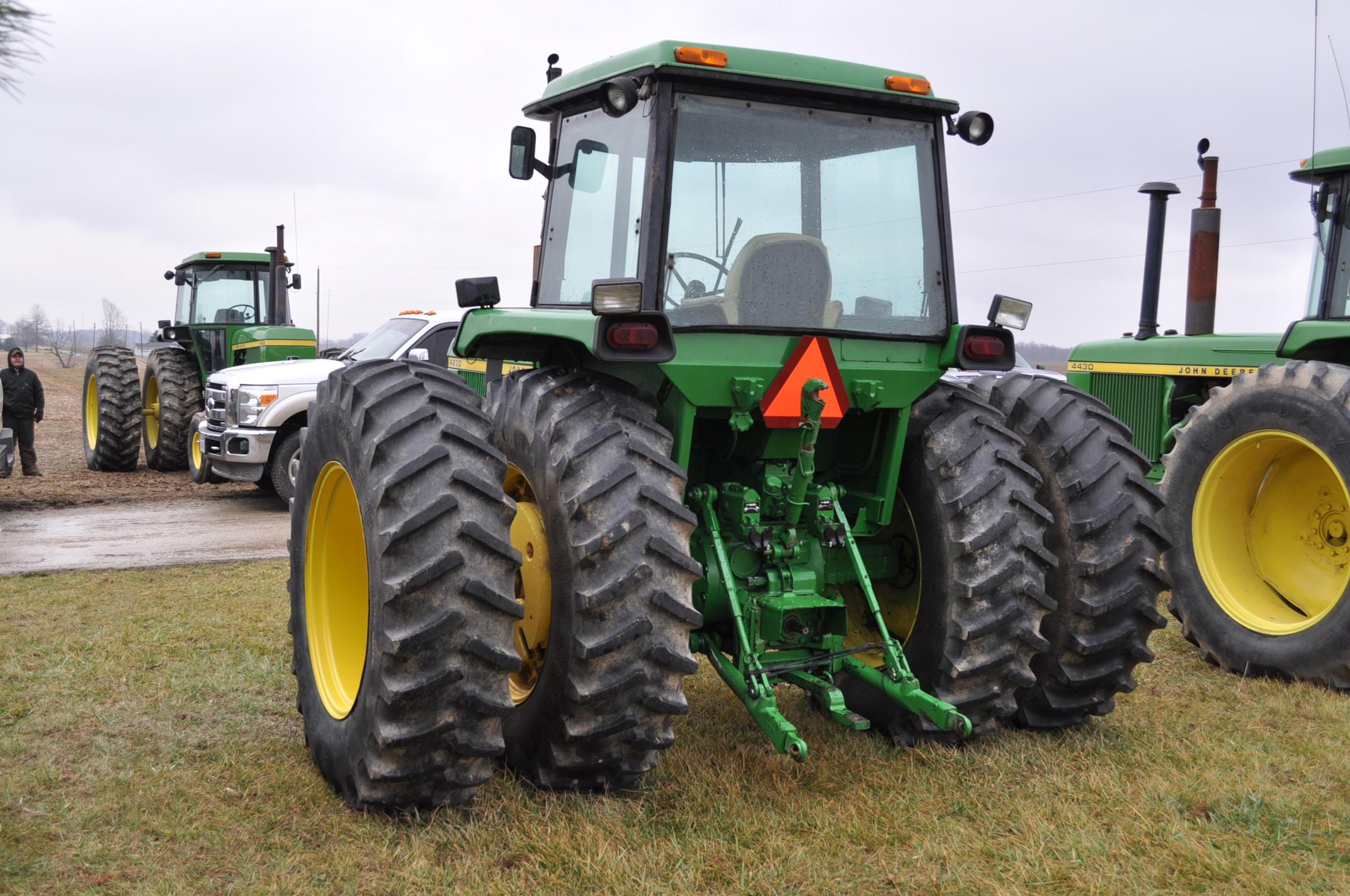 John Deere 4230 tractor, diesel, 18.4-34 hub duals, 10.00-16 front, CHA, Quad range, 2 hyd - Image 2 of 23