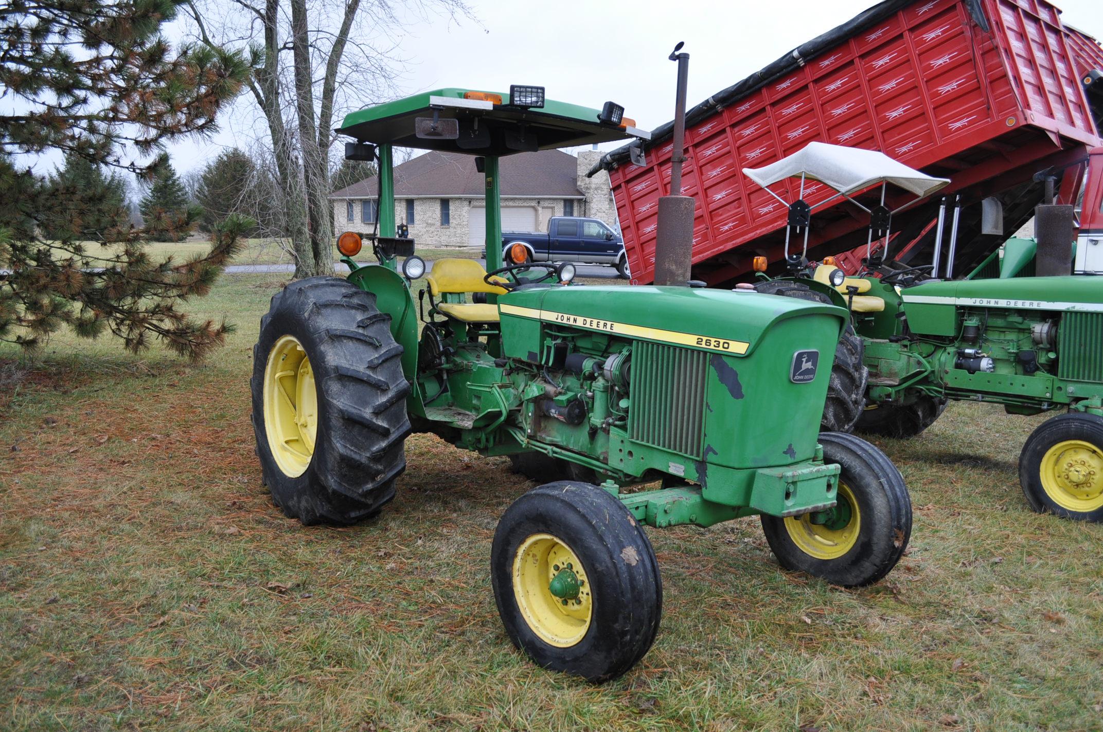 John Deere 2630 tractor, diesel, 16.9-28 rear, 9.5-15 front, 1 hyd remote, 540 pto, 3 pt, 4260 - Image 4 of 18