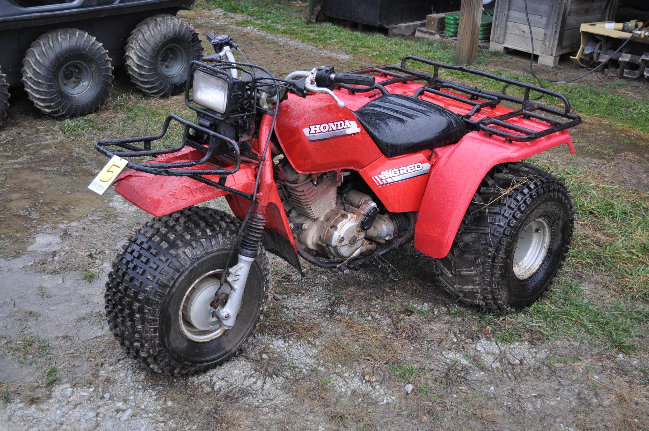 Honda Big Red 3-wheeler, new 25 x 12.00-9 tires