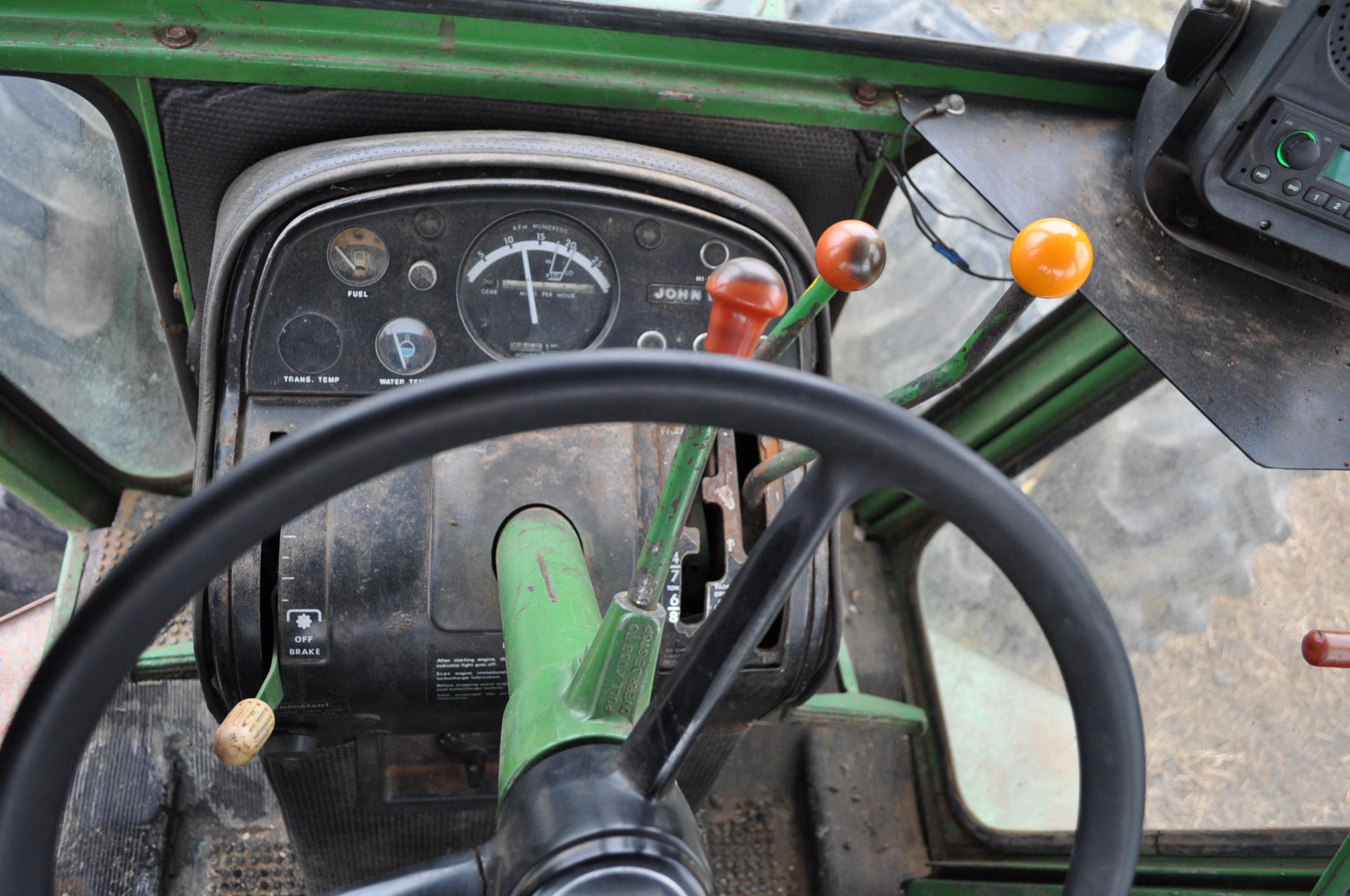 John Deere 7520 tractor, 4WD, diesel, 18.4-34 duals, original fenders, CHA, cab interior kit, 3 - Image 19 of 24