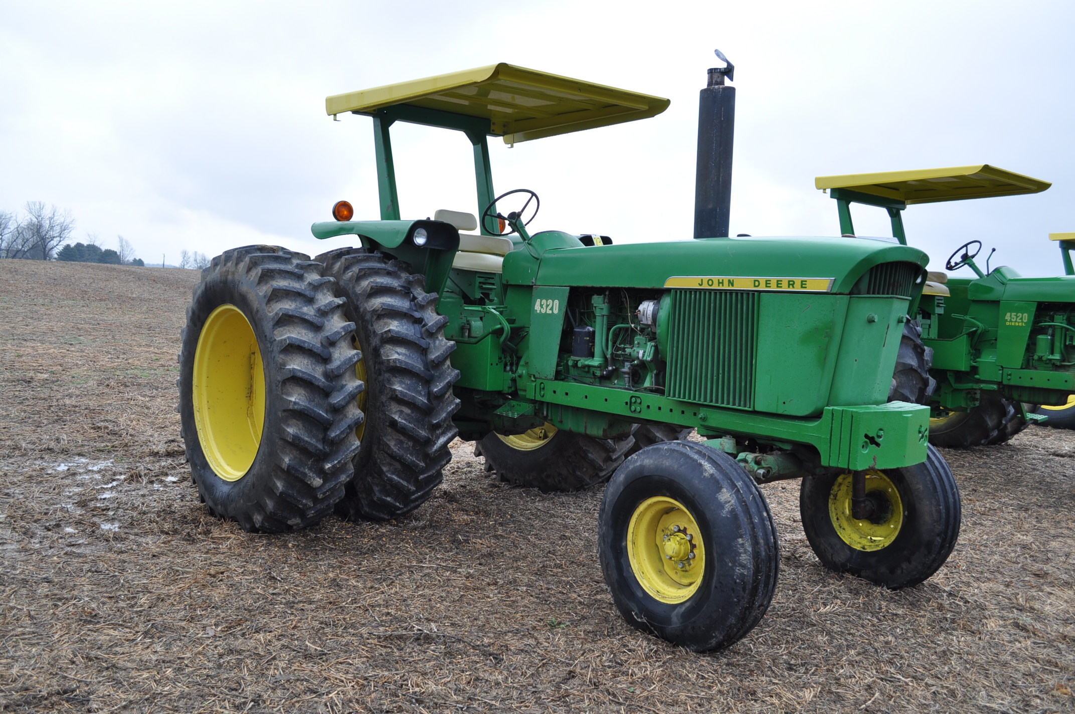 John Deere 4320 tractor, diesel, 18.4-38 duals, 10.00-16 wide front, Syncro, 2 hyd remotes, 540/1000 - Image 4 of 20
