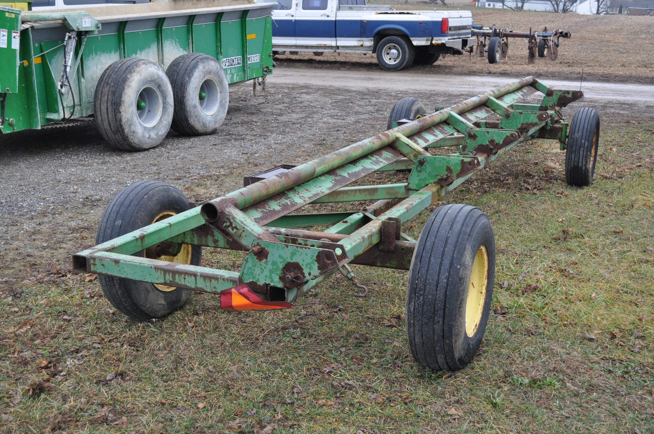 20' John Deere header wagon, 9.5 L-15 tires - Image 4 of 5