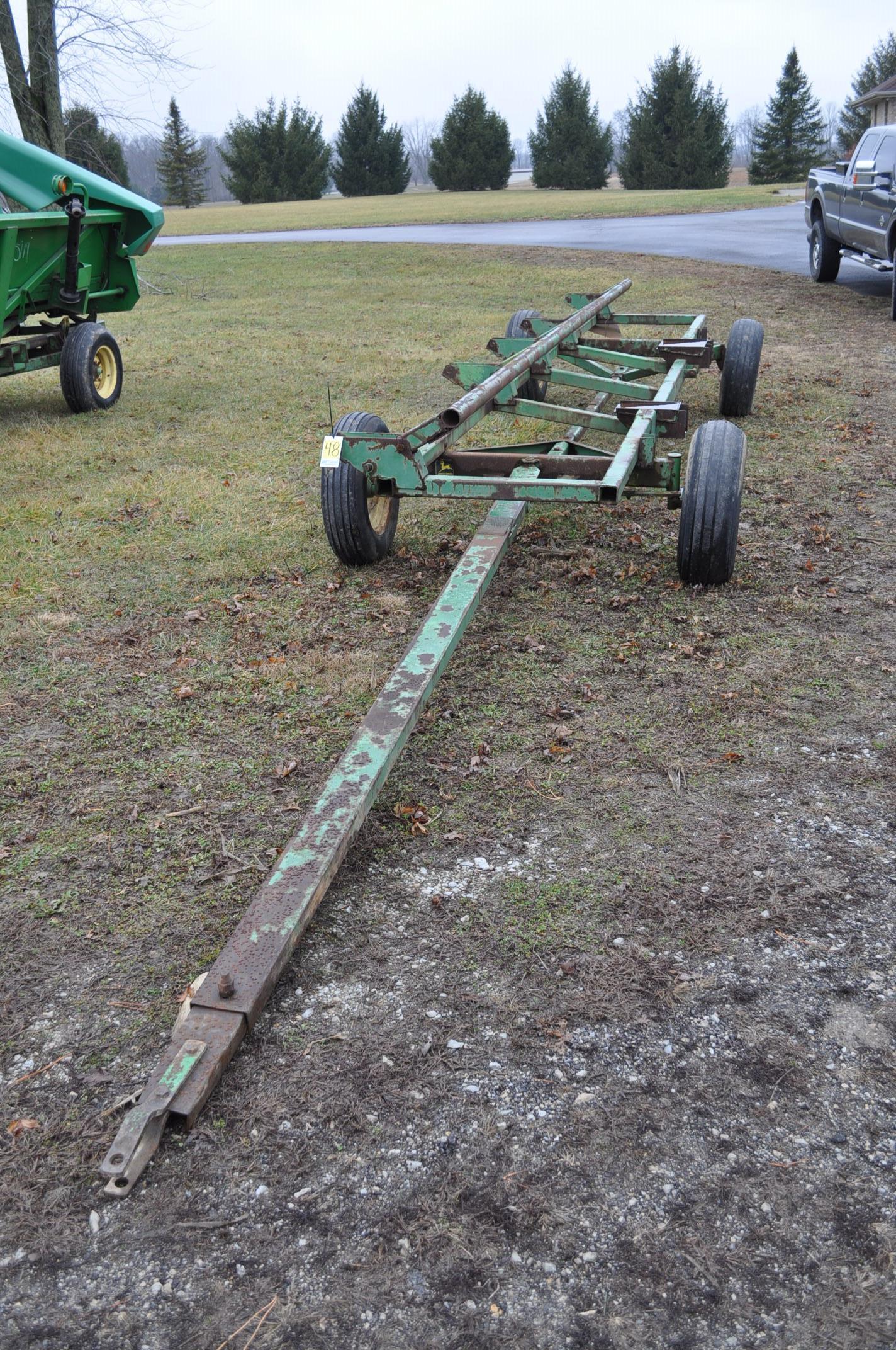 20' John Deere header wagon, 9.5 L-15 tires