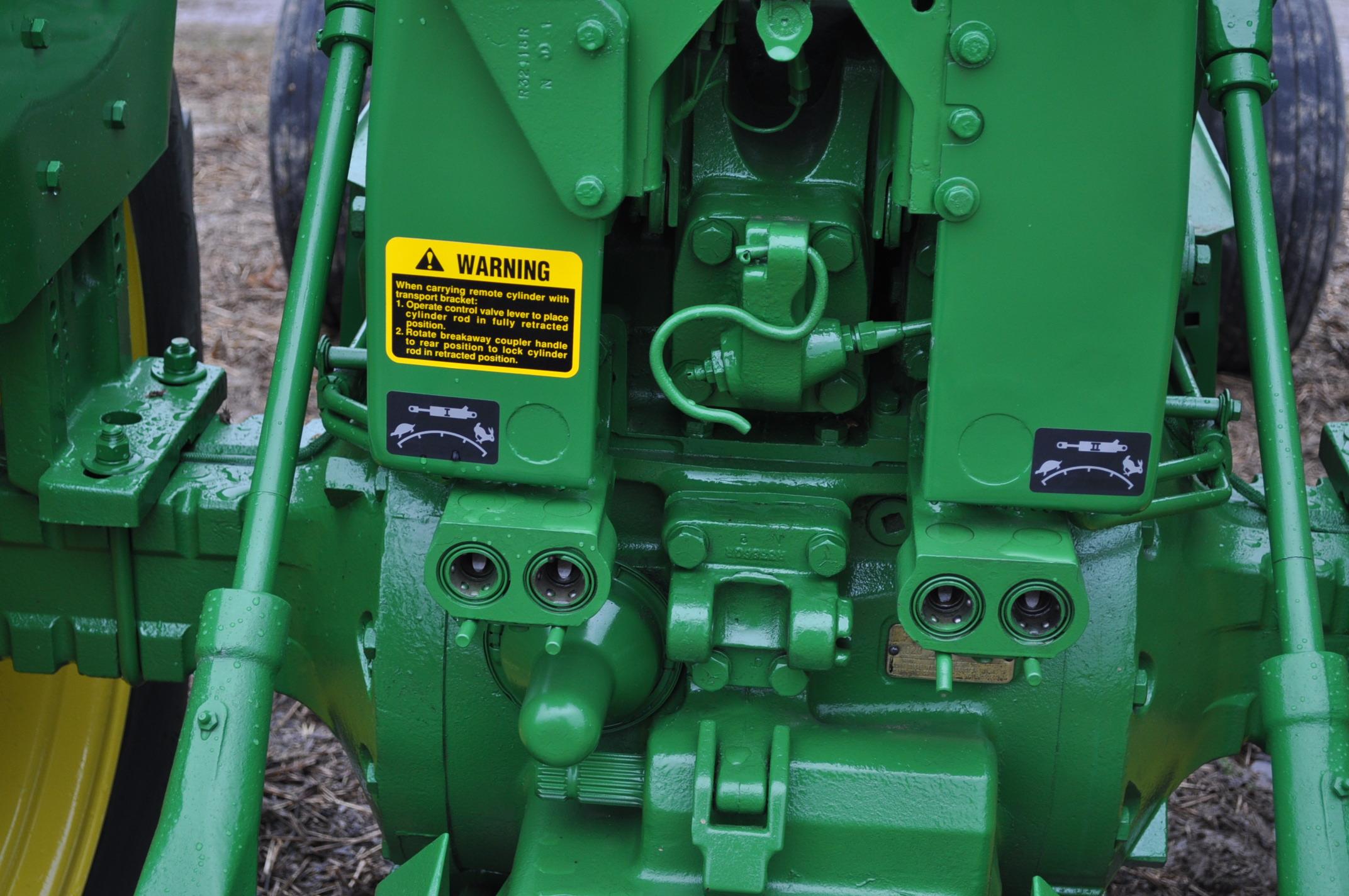 John Deere 4020 powershift, major overhaul on motor, 12V system, dual hyd remotes, wide front, 7,130 - Image 14 of 18