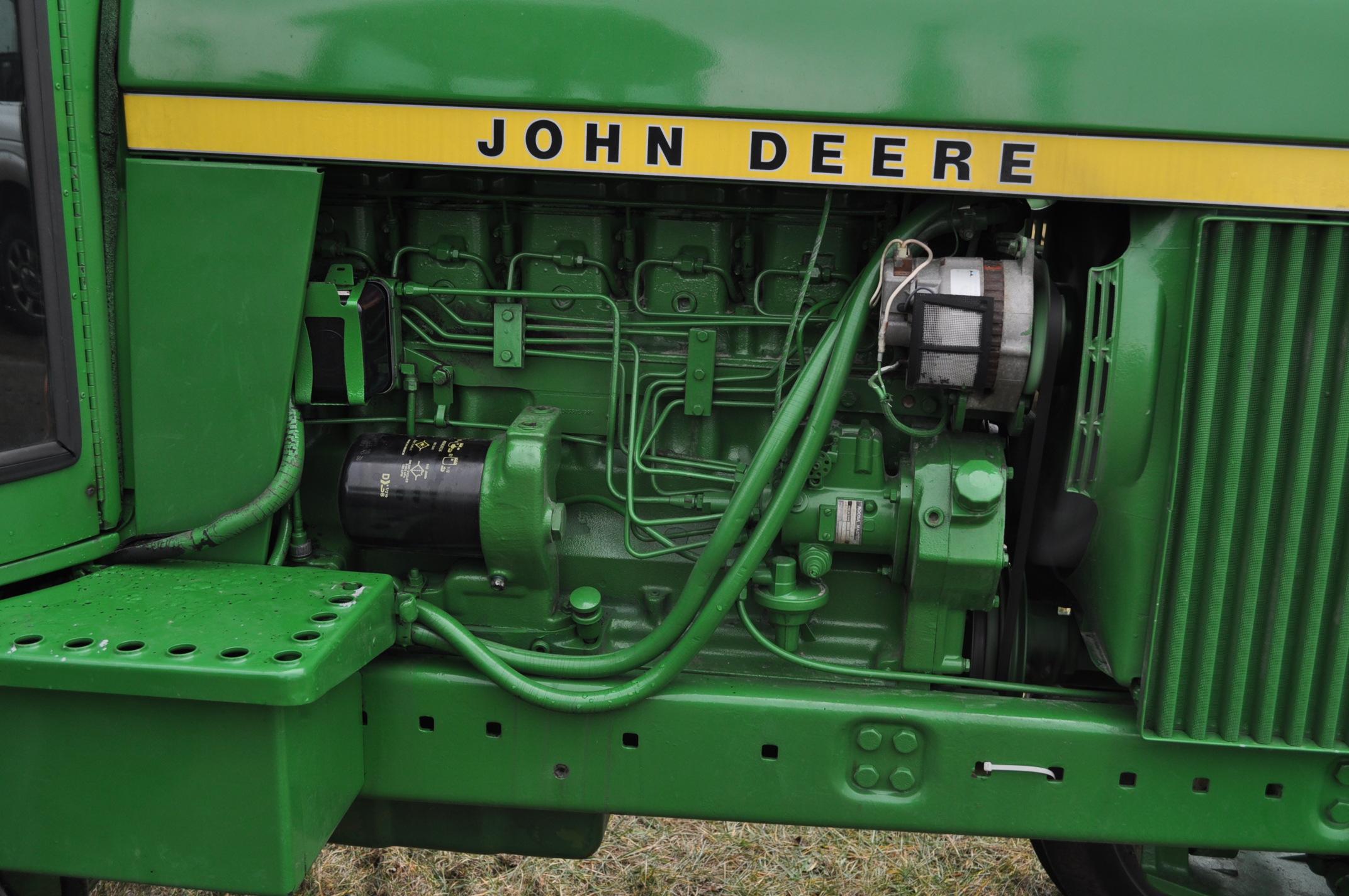 John Deere 4230 tractor, diesel, 18.4-34 hub duals, 10.00-16 front, CHA, Quad range, 2 hyd - Image 9 of 23
