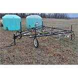 30' Quality Metal Works weed wiper cart, needs work