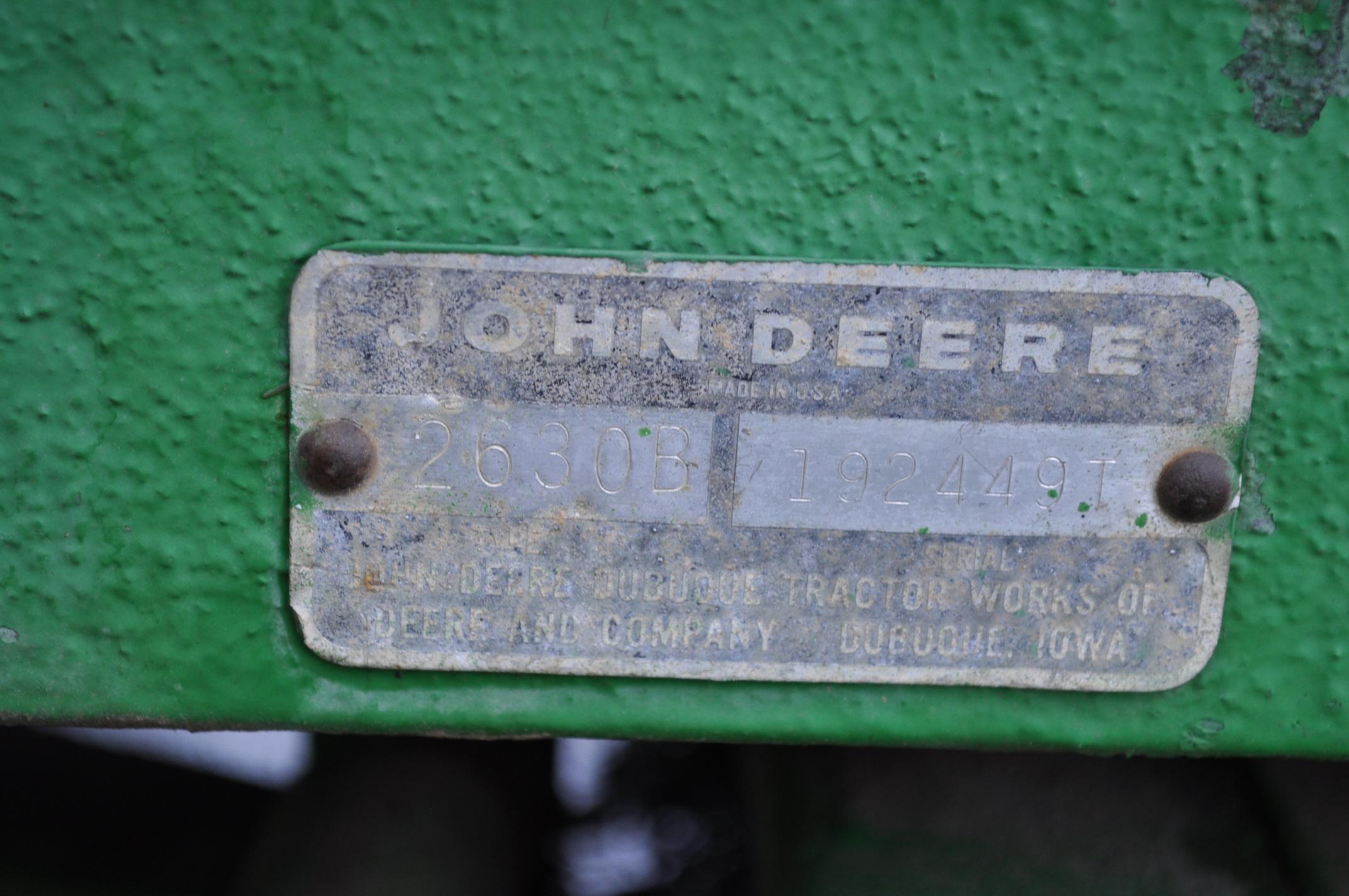 John Deere 2630 tractor, diesel, 16.9-28 rear, 9.5-15 front, 1 hyd remote, 540 pto, 3 pt, 4260 - Image 9 of 18