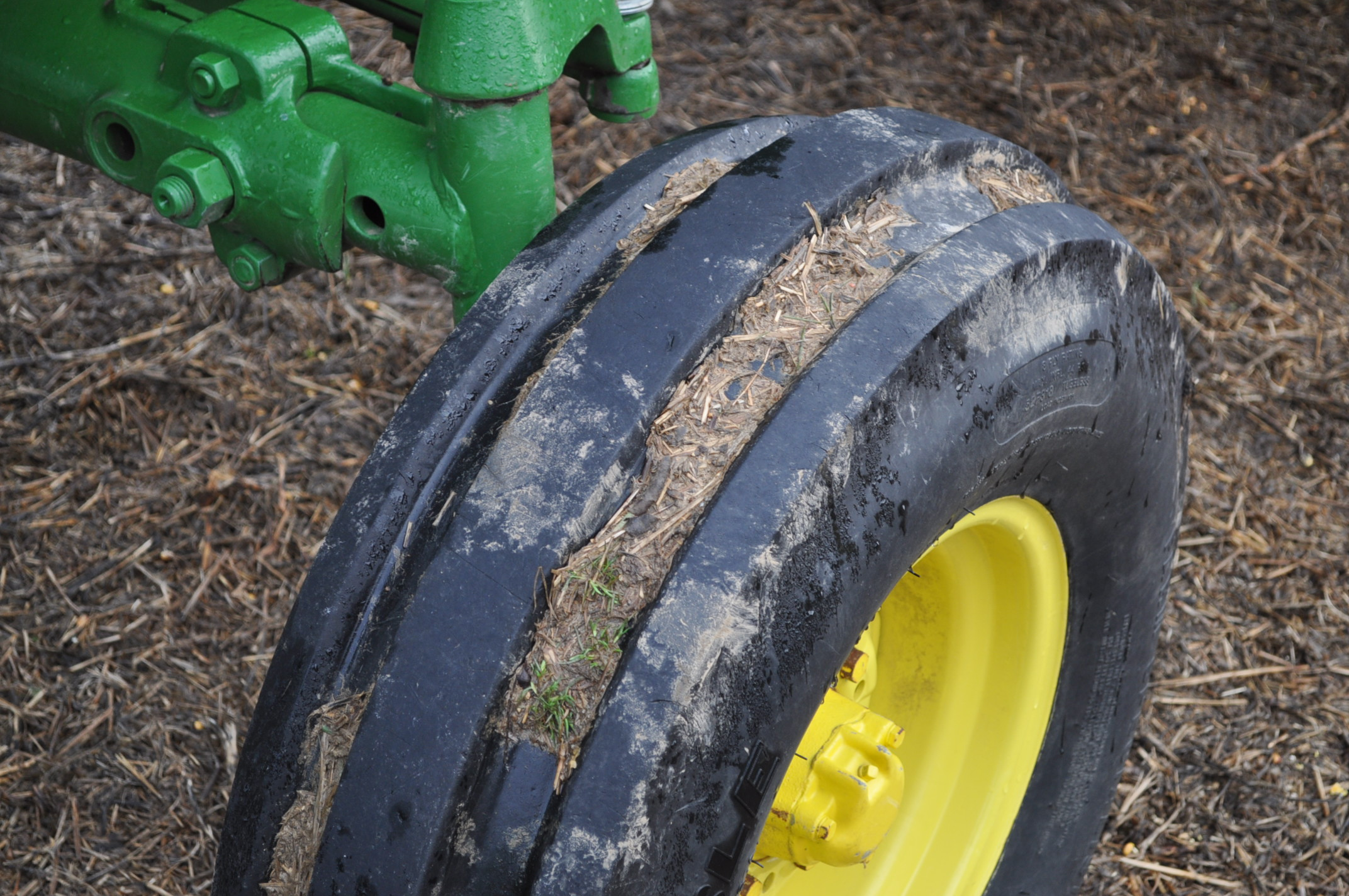 John Deere 4020 tractor, diesel, 18.4-34 tires w/ clamp on dual rims, 11L-15 front, ROPS w/ - Image 6 of 22