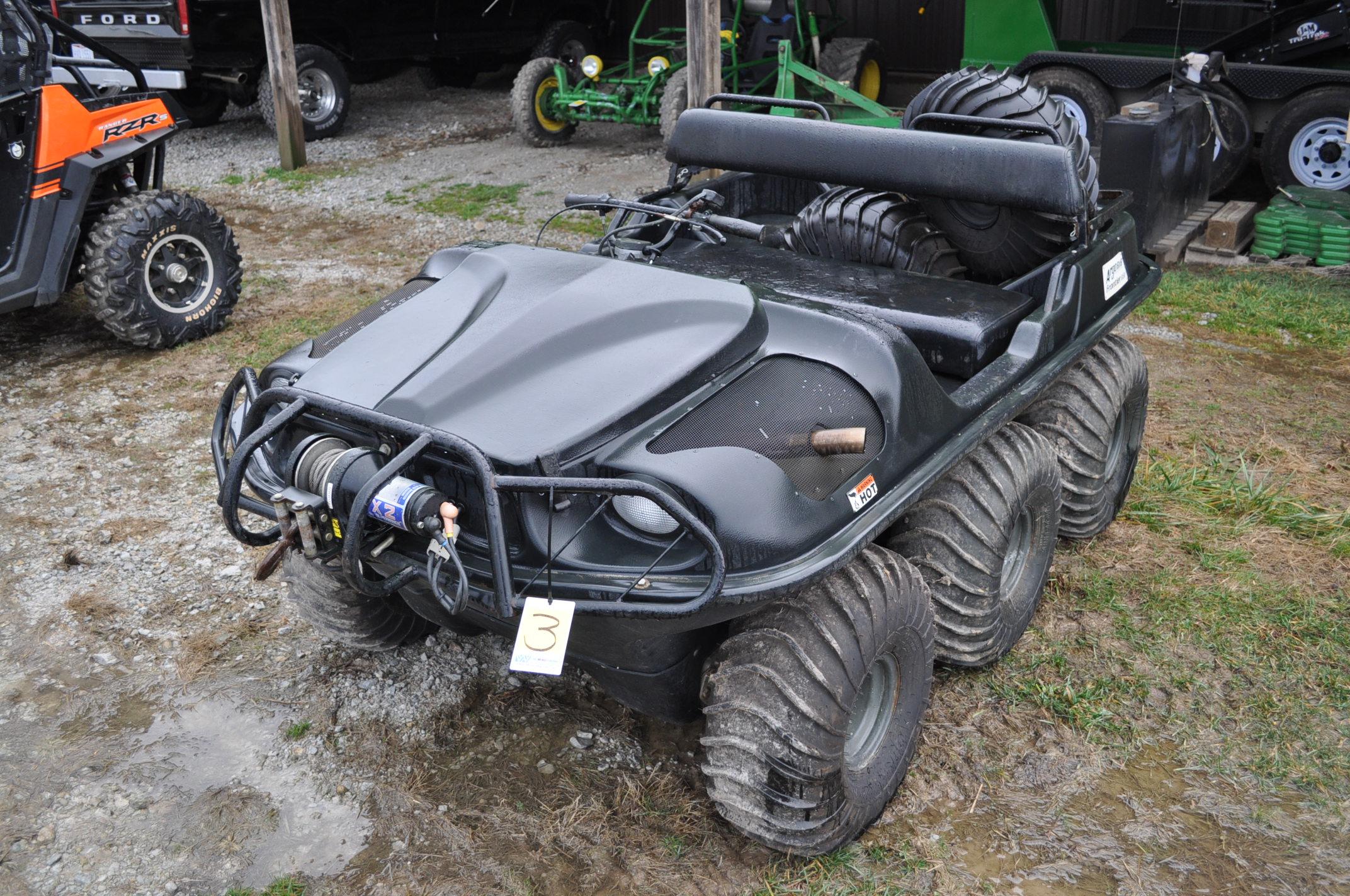 2008 Argo Frontier 650 6x6 ATV, 24 x 10.00-8 tires, 256 hrs