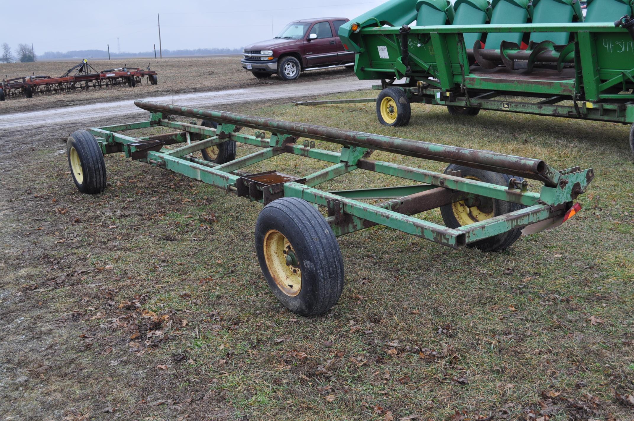 20' John Deere header wagon, 9.5 L-15 tires - Image 3 of 5