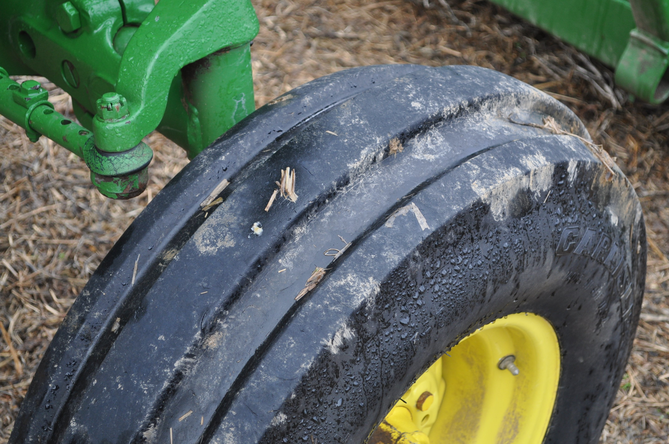 John Deere 4020 tractor, diesel, 18.4-34 tires w/ clamp on dual rims, 11L-15 front, ROPS w/ - Image 9 of 22
