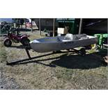 13 ½' aluminum boat w/ trailer, no motor, NO TITLE