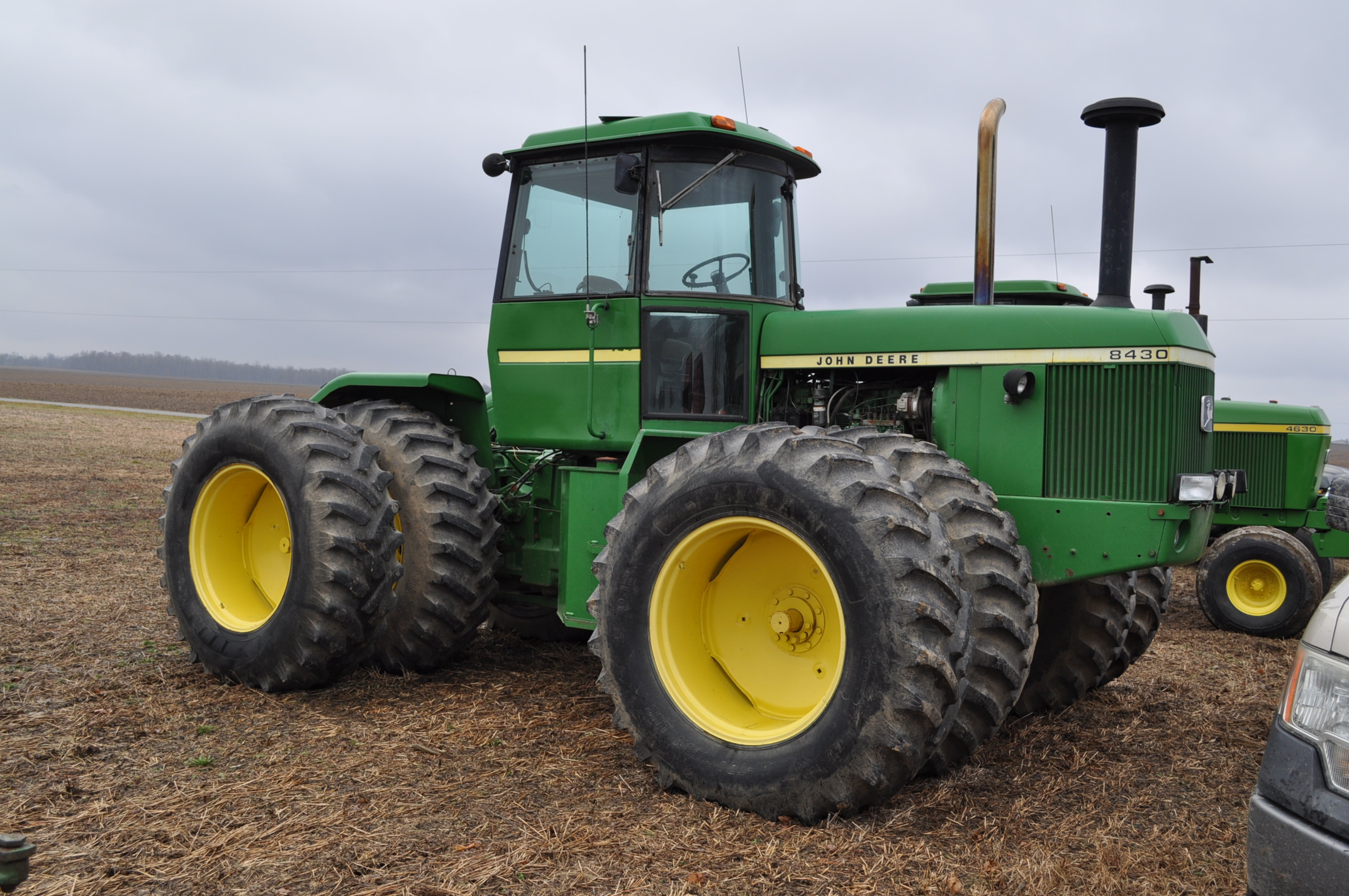 John Deere 8430 tractor, 4WD, diesel, 20.8-34 duals, CHA, Quad range, 3 hyd remotes, 1000 pto, 3 pt, - Image 4 of 19