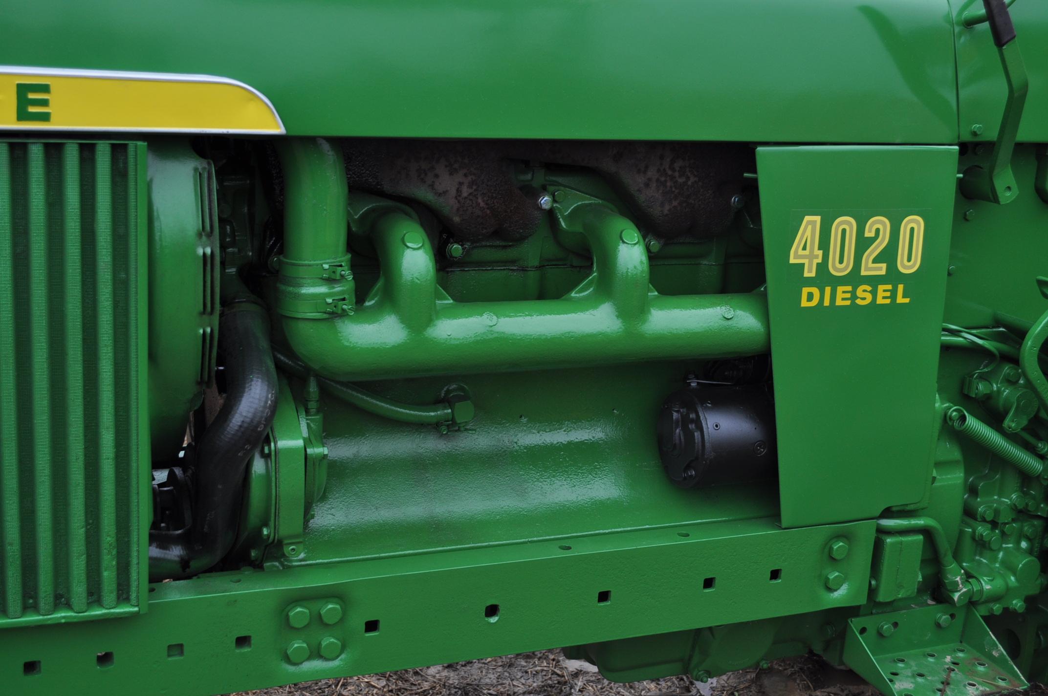 John Deere 4020 powershift, major overhaul on motor, 12V system, dual hyd remotes, wide front, 7,130 - Image 11 of 18