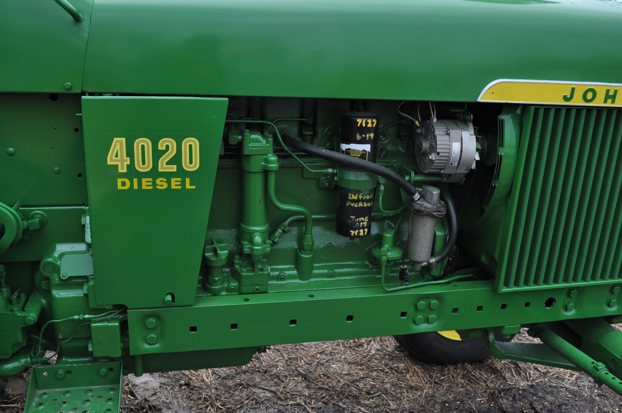 John Deere 4020 powershift, major overhaul on motor, 12V system, dual hyd remotes, wide front, 7,130 - Image 9 of 18