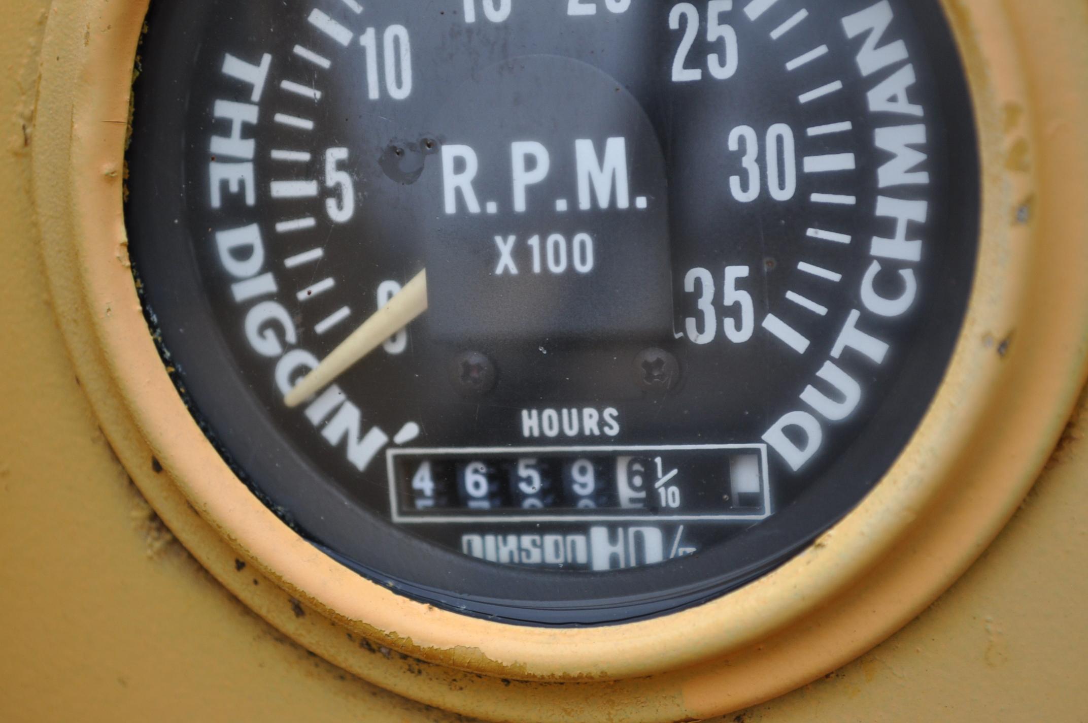 Vermeer V450 Trencher, parts machine, backhoe attachment, JD diesel, SN 1VRF082L2H1000460 - Image 10 of 15