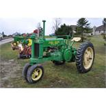 1937 John Deere Unstyled A, 11-36 tires, narrow front, 540 pto, SN 457396