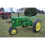John Deere H tractor, NEW 9.5-32 rear, narrow front, 540 pto, SN H-7475