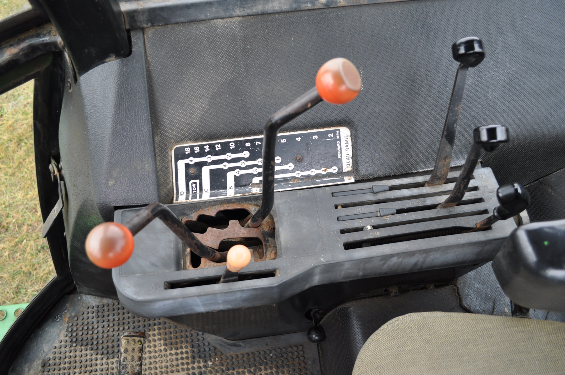 John Deere 4430 tractor, diesel, 18.4-34 hub duals, 10.00-16 front, CHA, Quad range, 2 hyd - Image 17 of 20