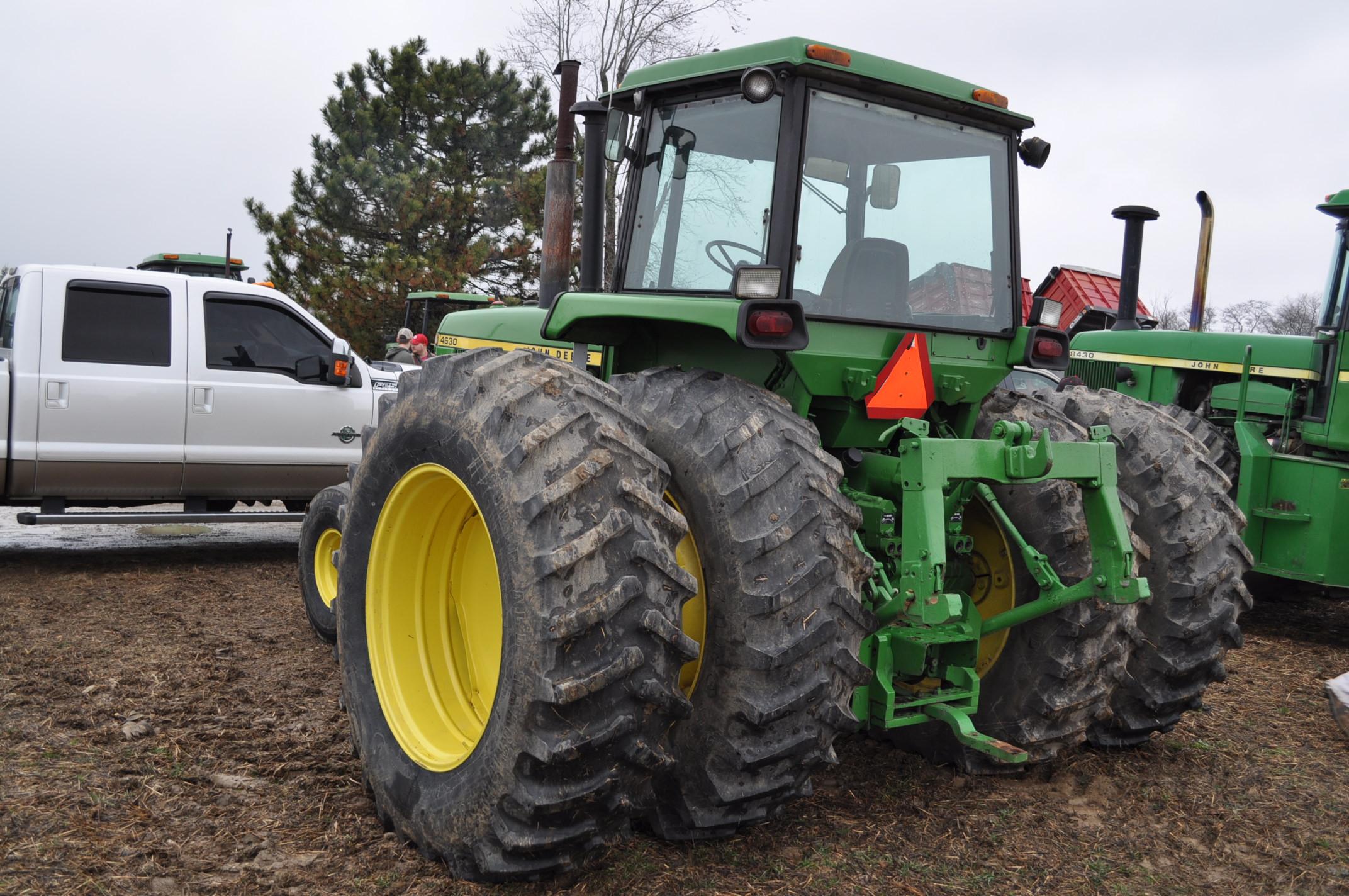 John Deere 4630 tractor, diesel, 20.8-38 hub duals, 14L-16 front, CHA, Quad range, 2 hyd remotes, - Image 2 of 22