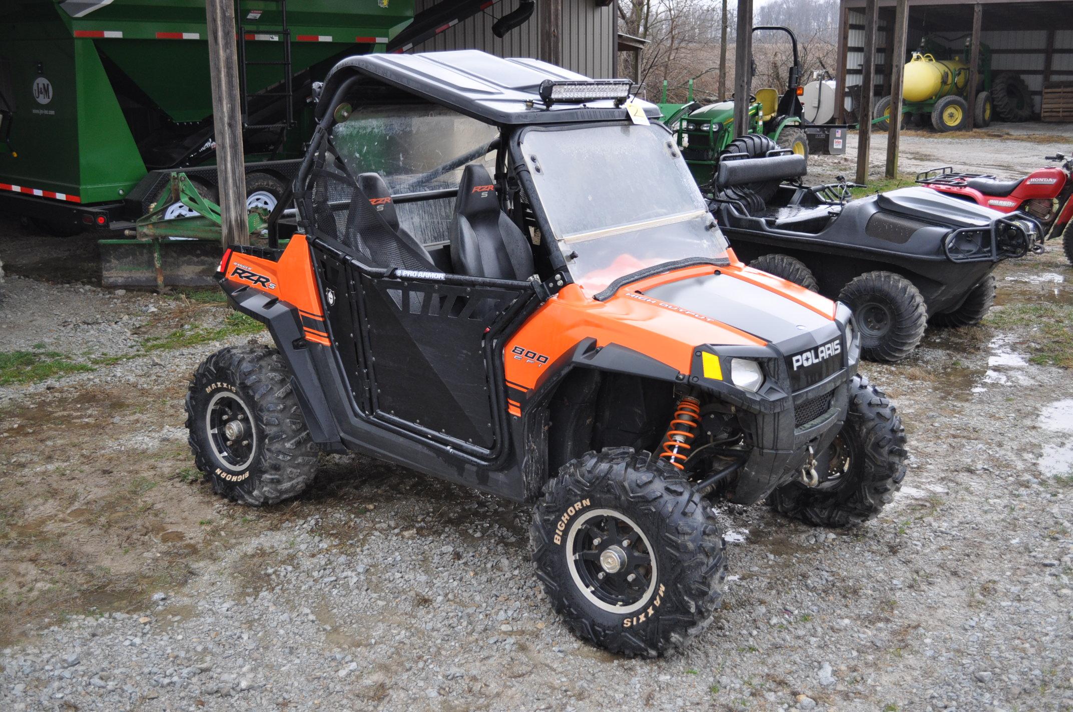 2010 Polaris Ranger RZR, 800 EFI, AT26 x 12 R 12 rear, AT26 x 9 R 12 front, half doors, 102 hrs, 899 - Image 4 of 9