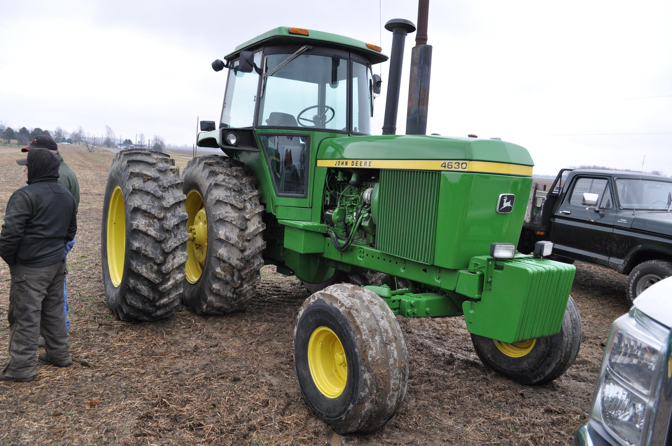 John Deere 4630 tractor, diesel, 20.8-38 hub duals, 14L-16 front, CHA, Quad range, 2 hyd remotes, - Image 4 of 22