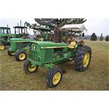 John Deere 2030 tractor, diesel, 16.9-28 rear, 7.5-15 front, canopy, power shuttle, 2 hyd remotes,