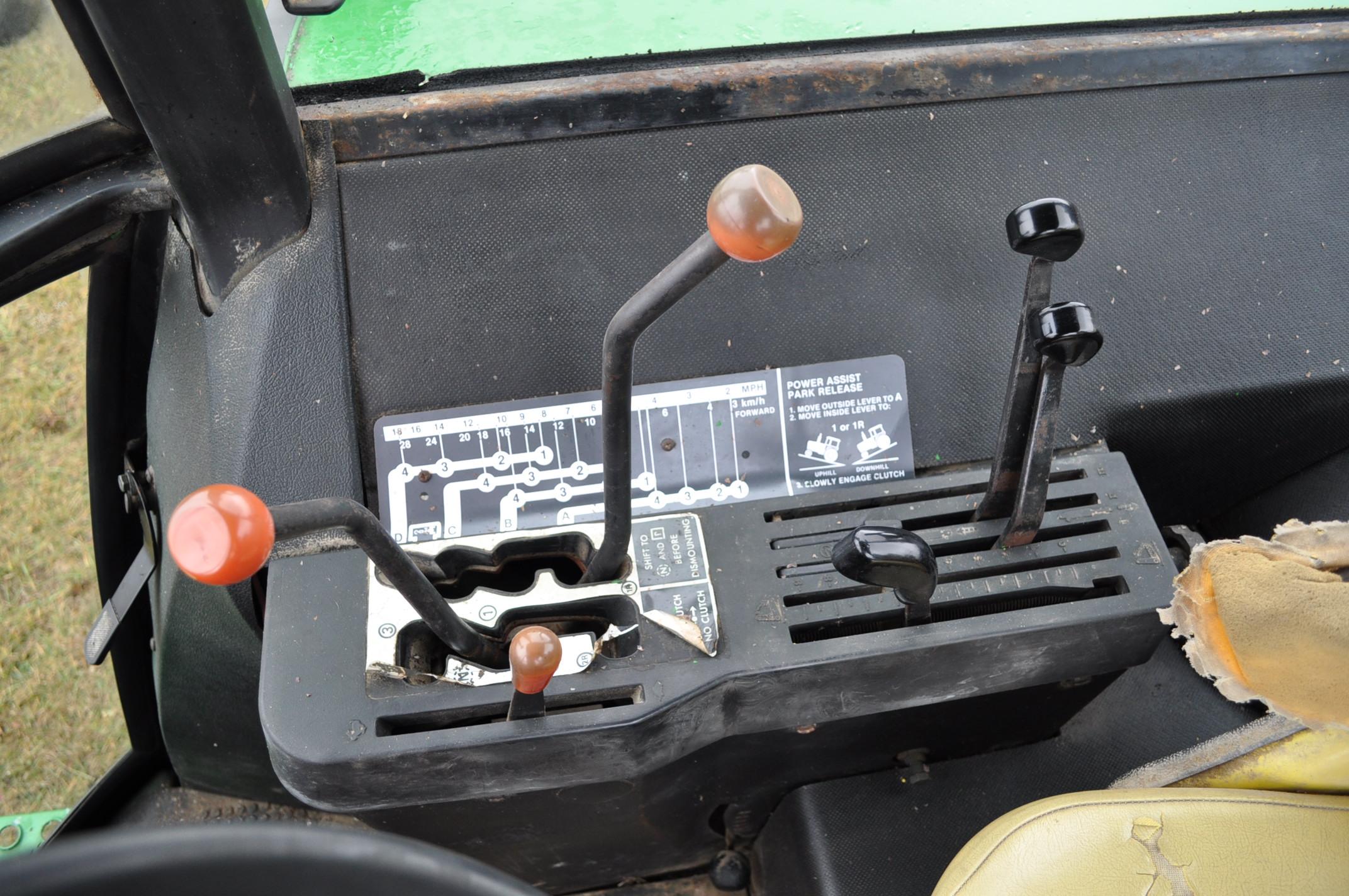 John Deere 4230 tractor, diesel, 18.4-34 hub duals, 10.00-16 front, CHA, Quad range, 2 hyd - Image 20 of 23