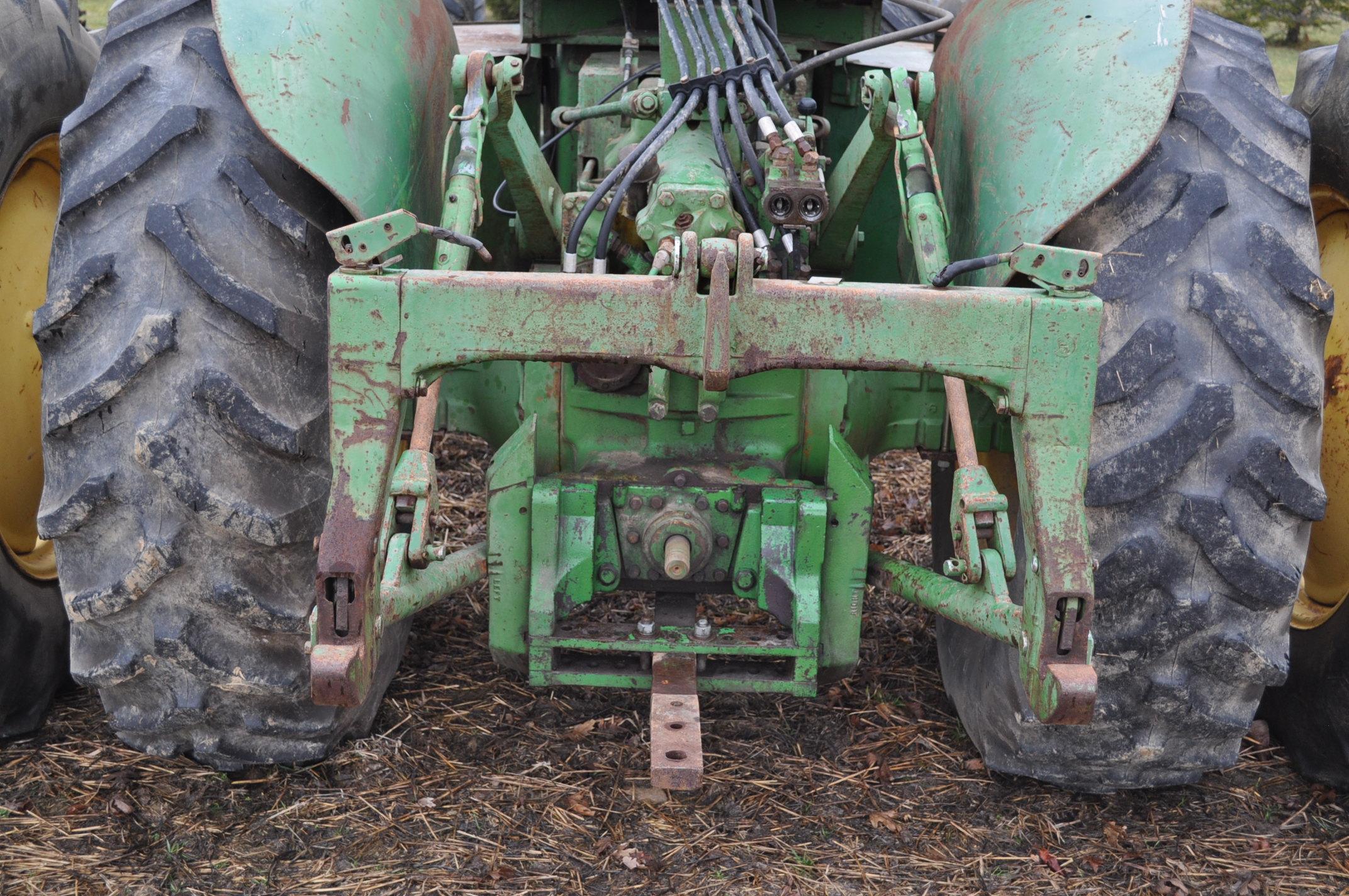 John Deere 7520 tractor, 4WD, diesel, 18.4-34 duals, original fenders, CHA, cab interior kit, 3 - Image 11 of 24