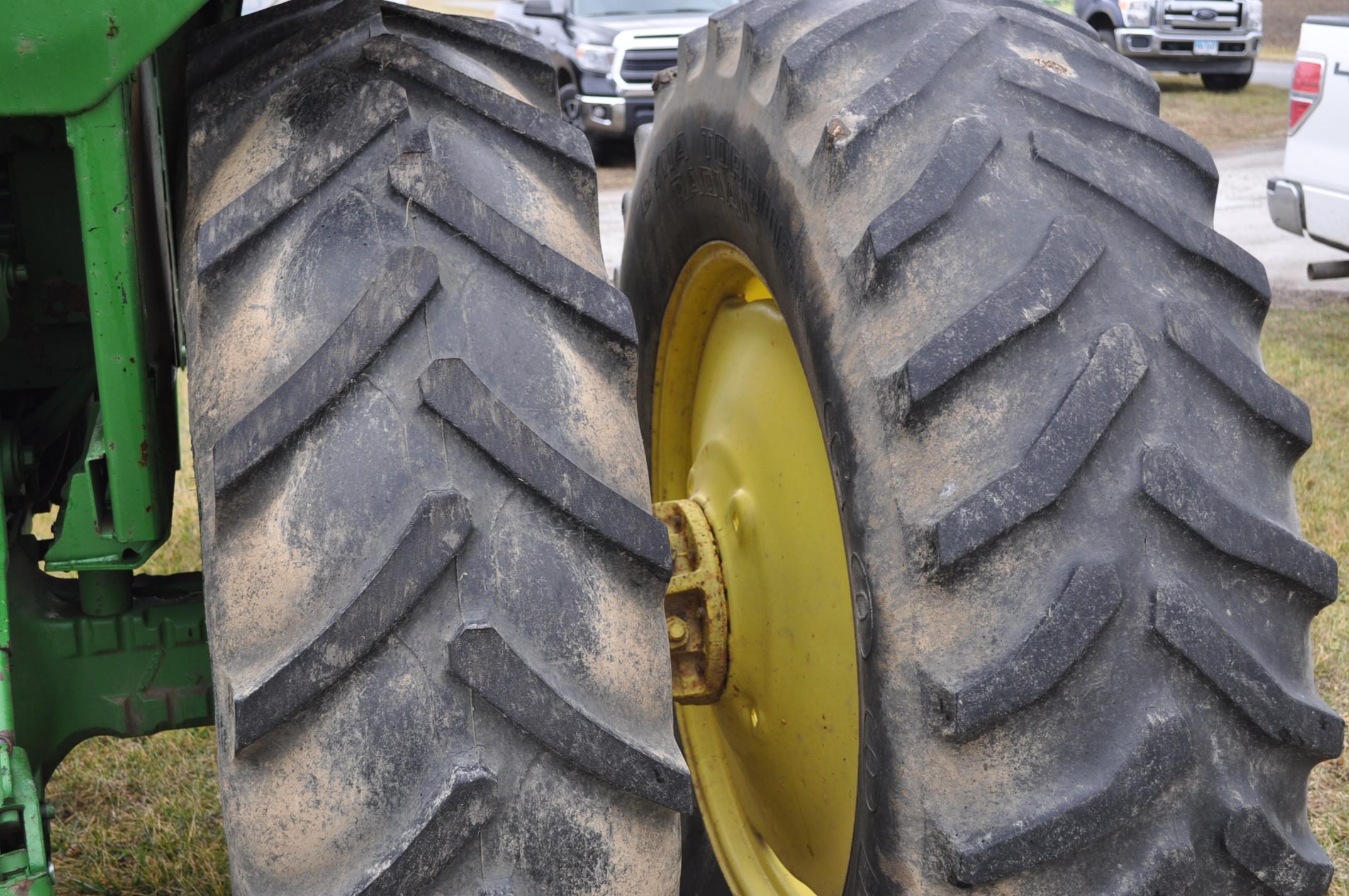 John Deere 4430 tractor, diesel, 18.4-34 hub duals, 10.00-16 front, CHA, Quad range, 2 hyd - Image 7 of 20