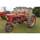 McCormick Farmall H tractor, 12.4-38 rear, narrow front, side pulley, 540 pto, SN FBH273308XL
