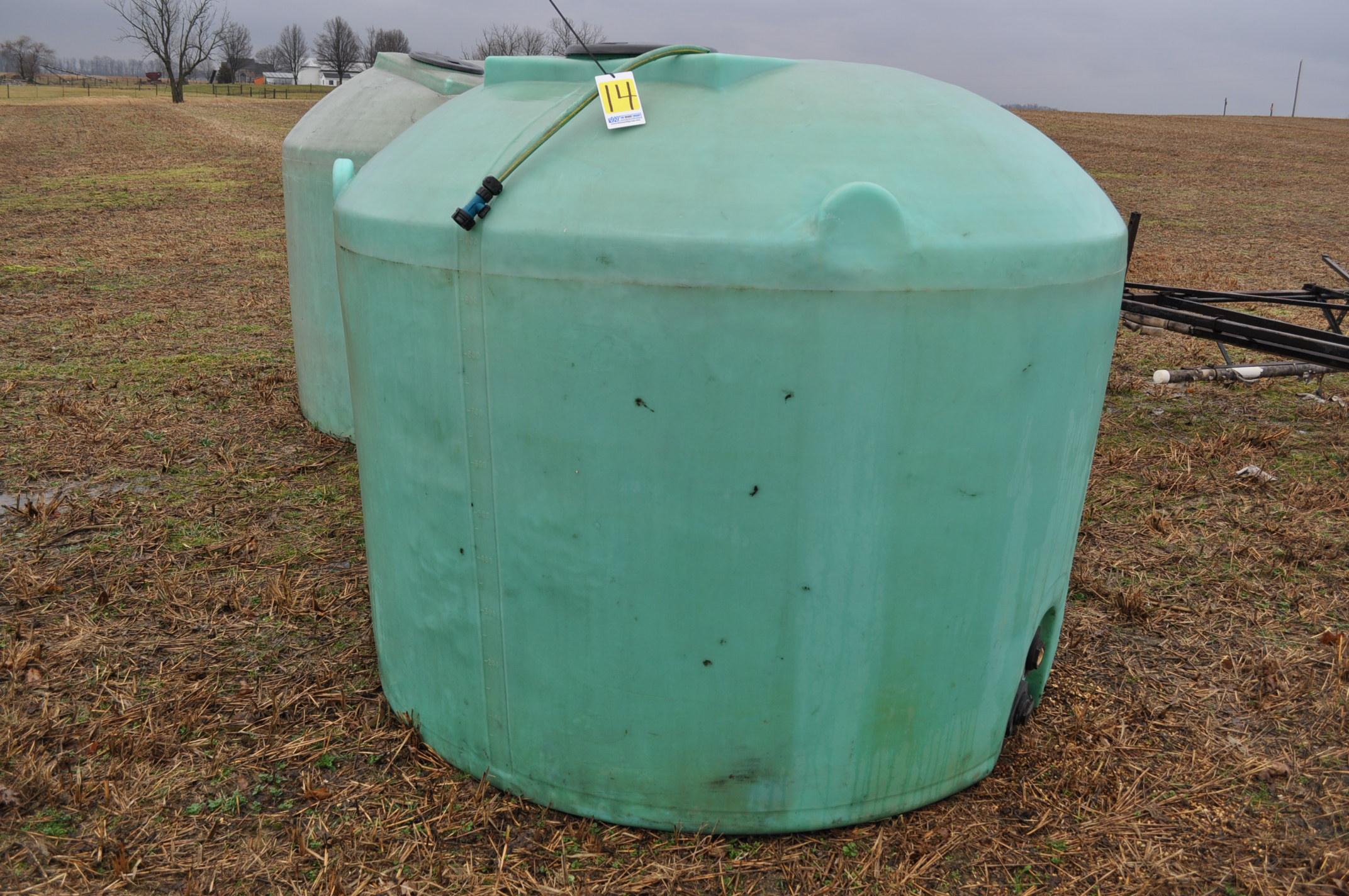 1200 gallon flat bottom poly tank