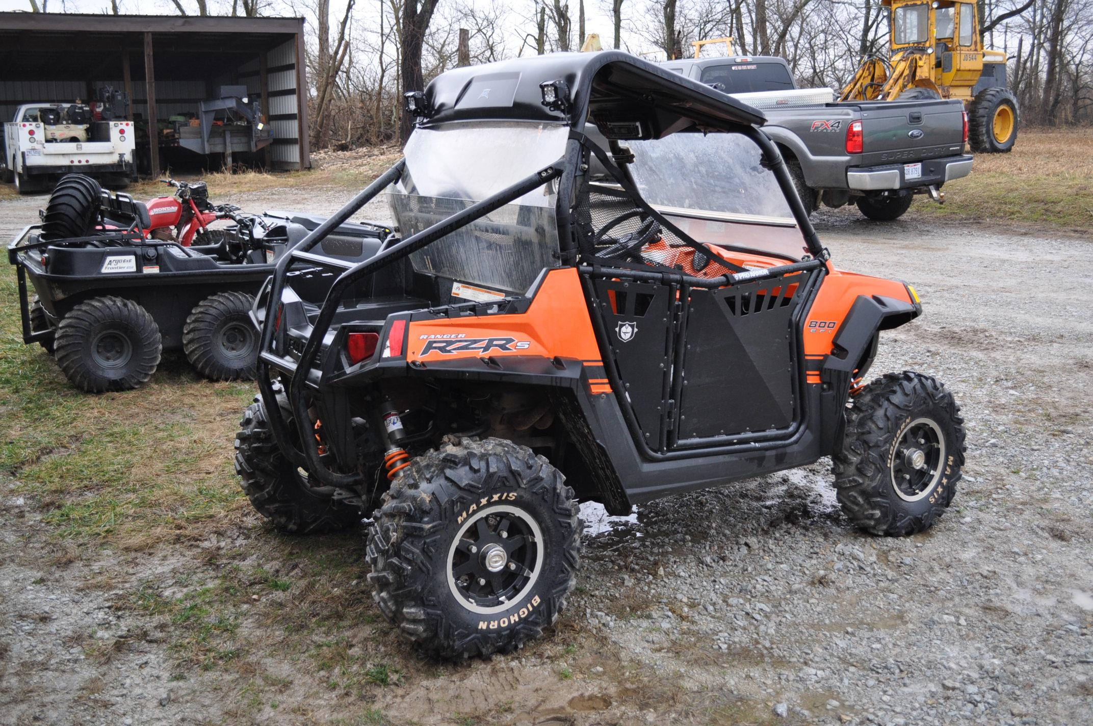 2010 Polaris Ranger RZR, 800 EFI, AT26 x 12 R 12 rear, AT26 x 9 R 12 front, half doors, 102 hrs, 899 - Image 3 of 9
