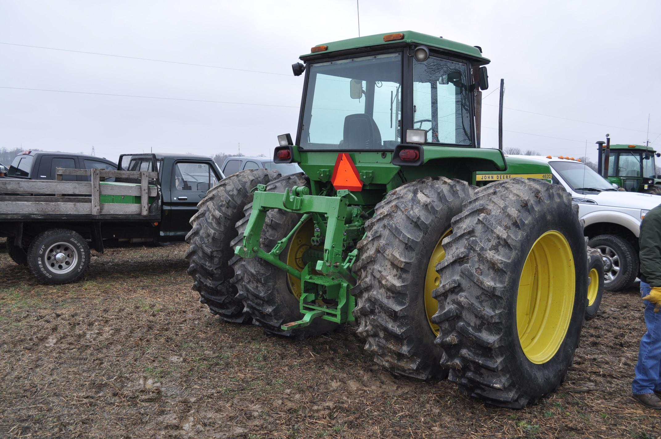 John Deere 4630 tractor, diesel, 20.8-38 hub duals, 14L-16 front, CHA, Quad range, 2 hyd remotes, - Image 3 of 22