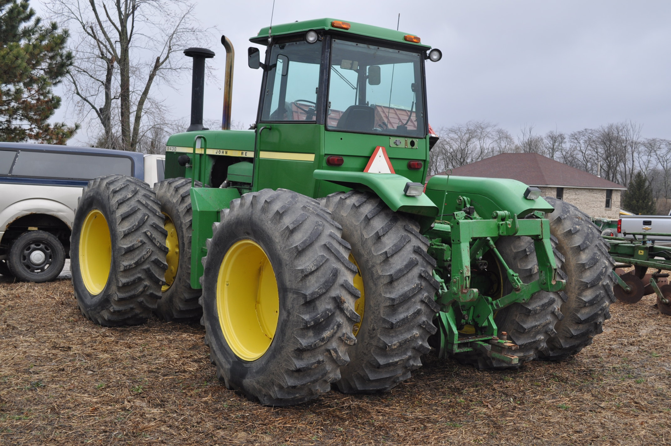 John Deere 8430 tractor, 4WD, diesel, 20.8-34 duals, CHA, Quad range, 3 hyd remotes, 1000 pto, 3 pt, - Image 2 of 19
