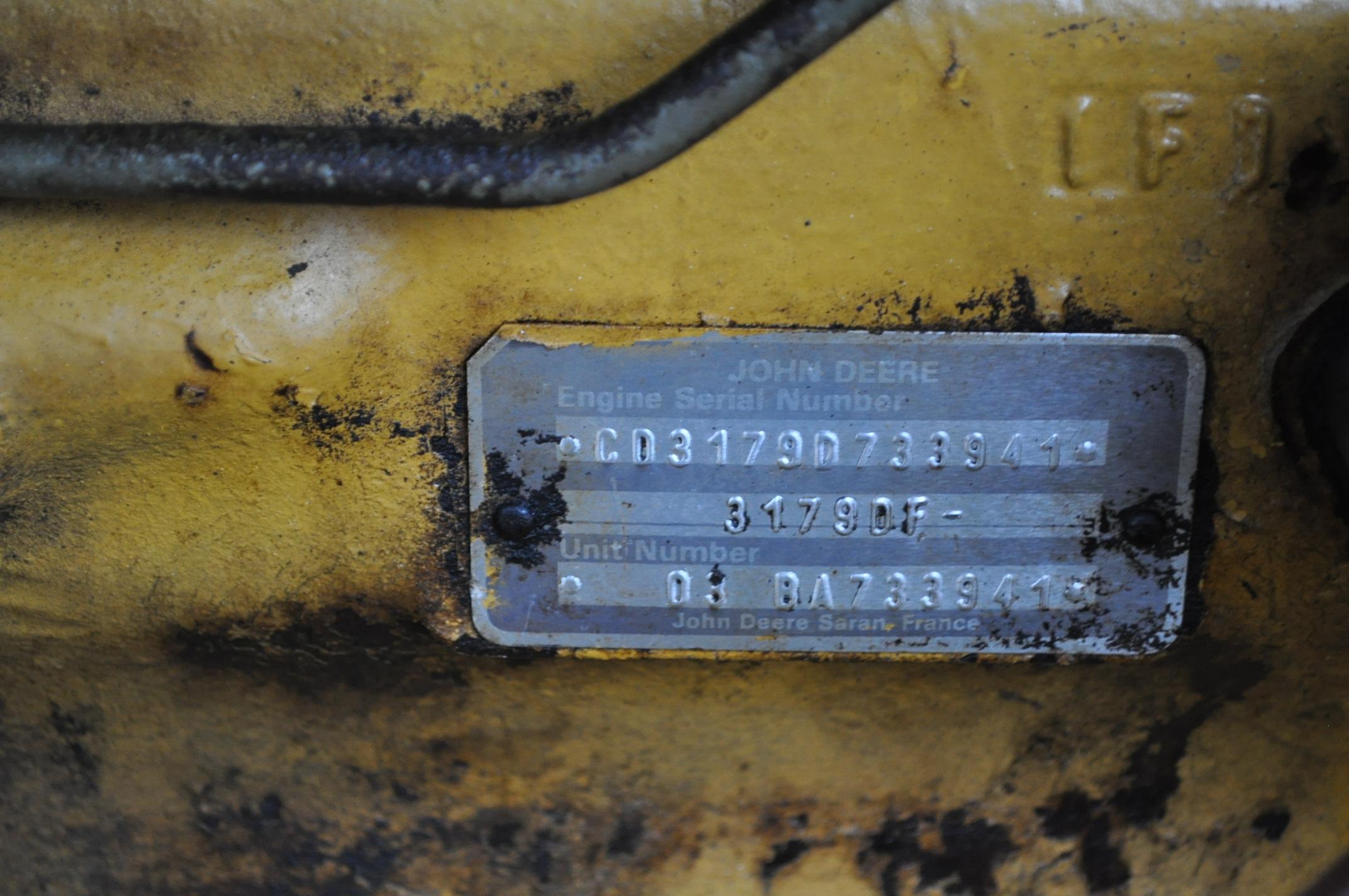 Vermeer V450 Trencher, parts machine, backhoe attachment, JD diesel, SN 1VRF082L2H1000460 - Image 12 of 15