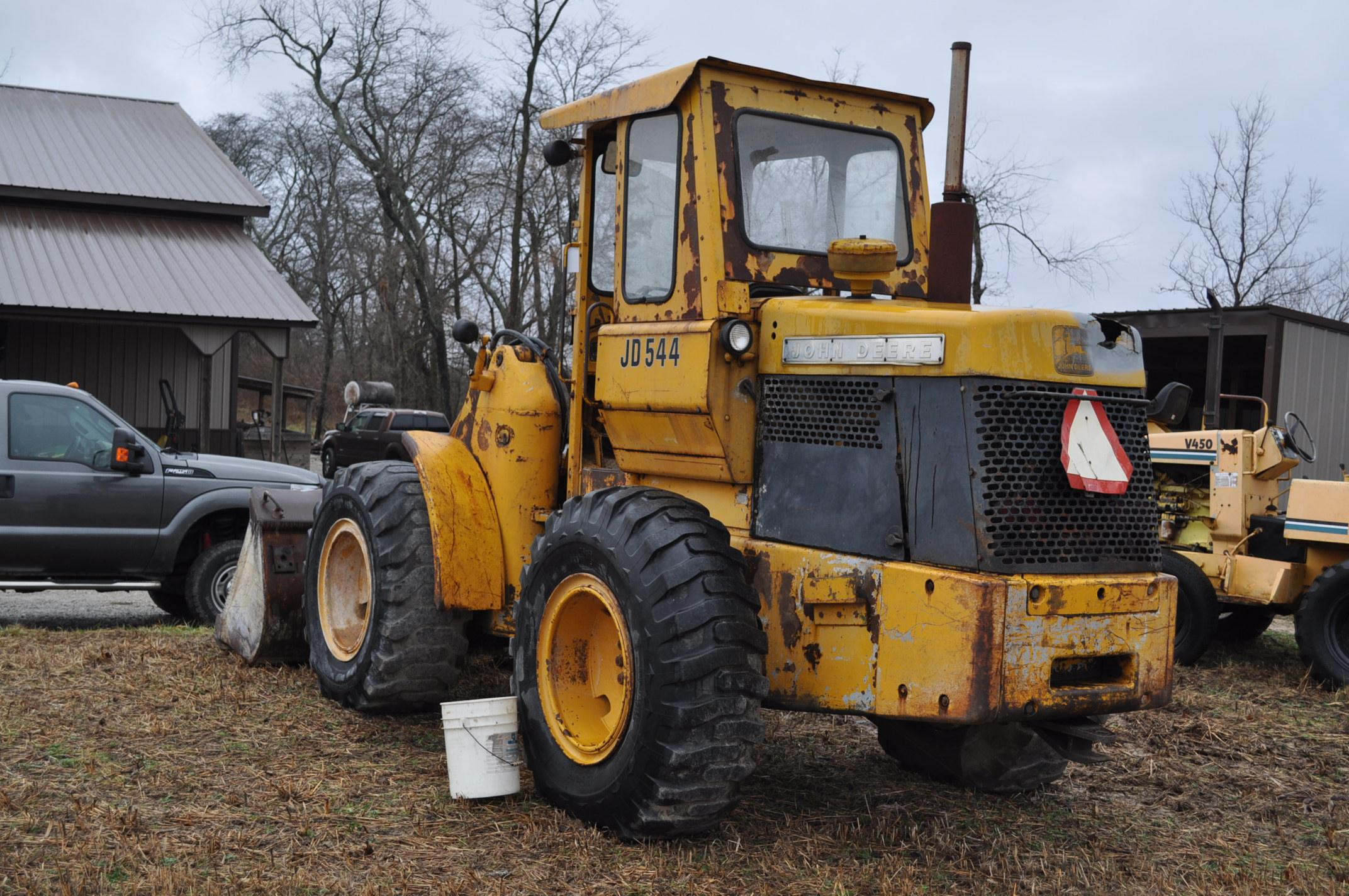 John Deere 544 Payloader, 17.5-25 tires, shows 1074 hrs, SN 0767621 - Image 2 of 16