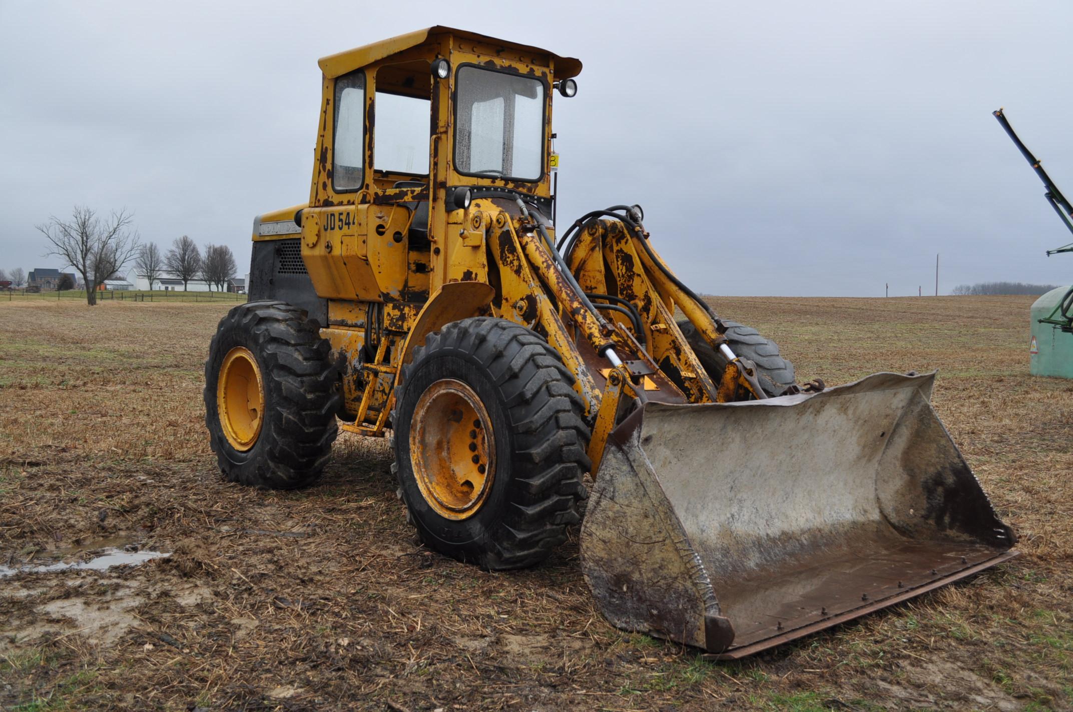 John Deere 544 Payloader, 17.5-25 tires, shows 1074 hrs, SN 0767621 - Image 4 of 16