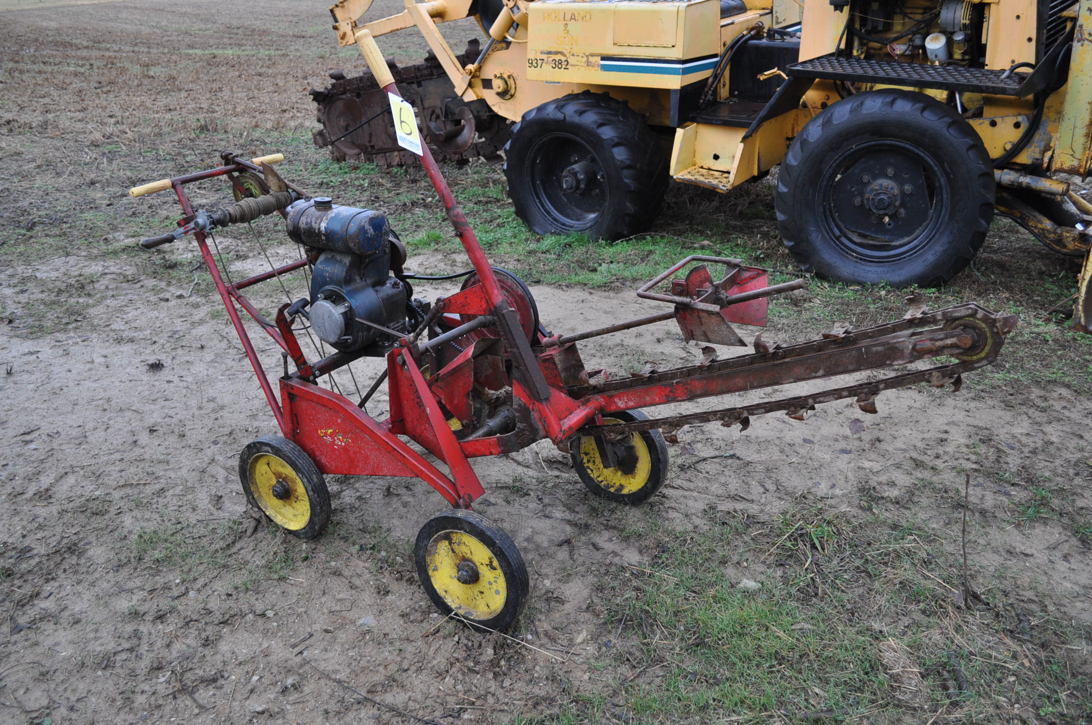 Gas powered walk-behind trencher, Kohler gas - Image 2 of 6
