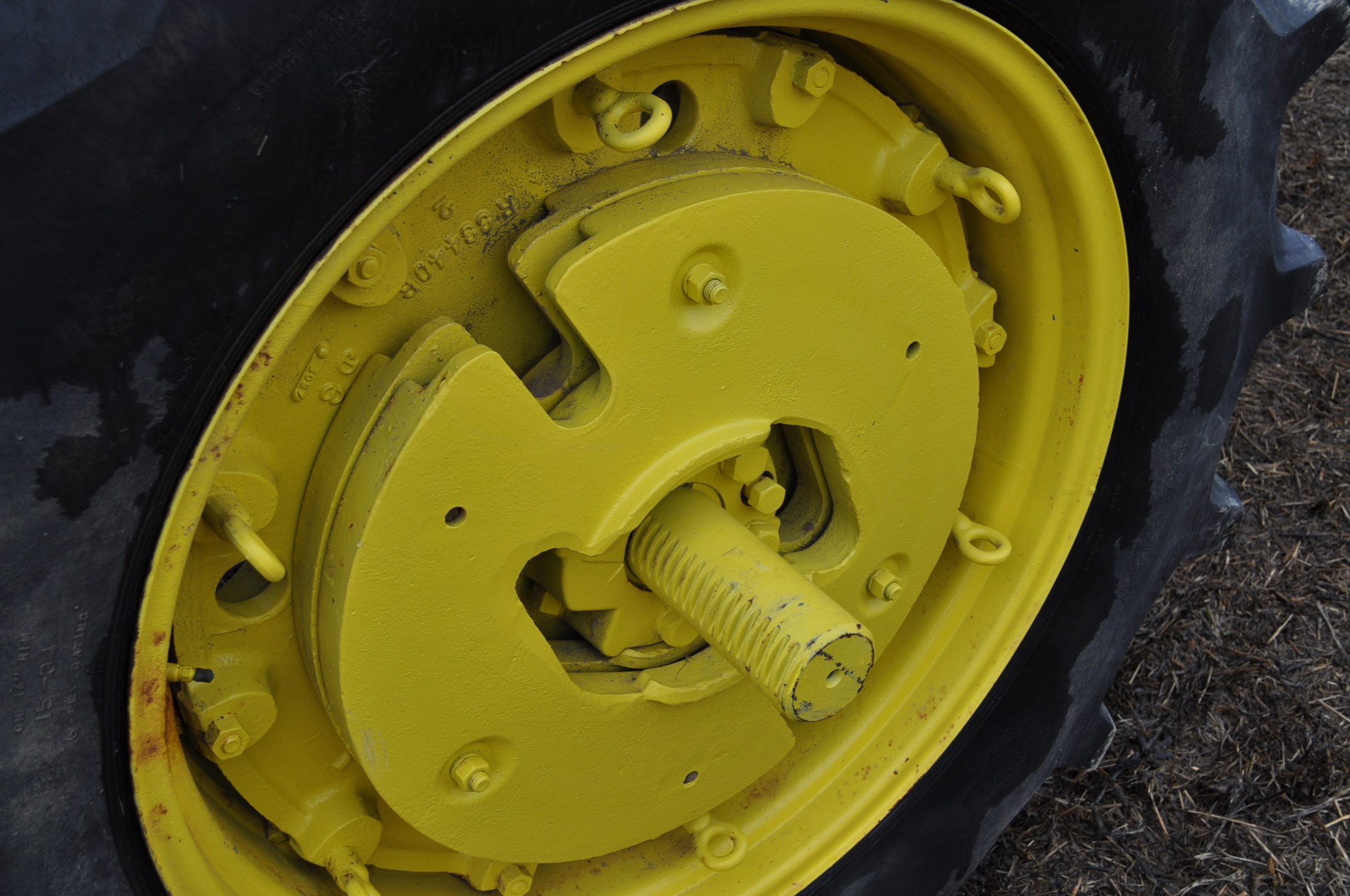 John Deere 4020 tractor, diesel, 18.4-34 tires w/ clamp on dual rims, 11L-15 front, ROPS w/ - Image 13 of 22