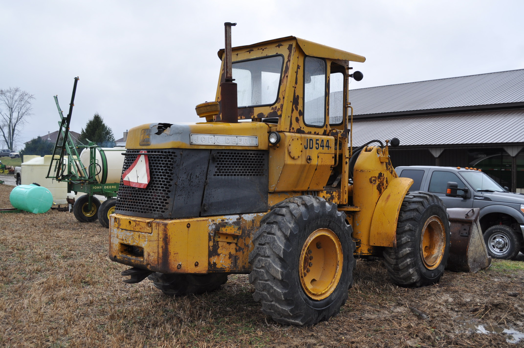 John Deere 544 Payloader, 17.5-25 tires, shows 1074 hrs, SN 0767621 - Image 3 of 16