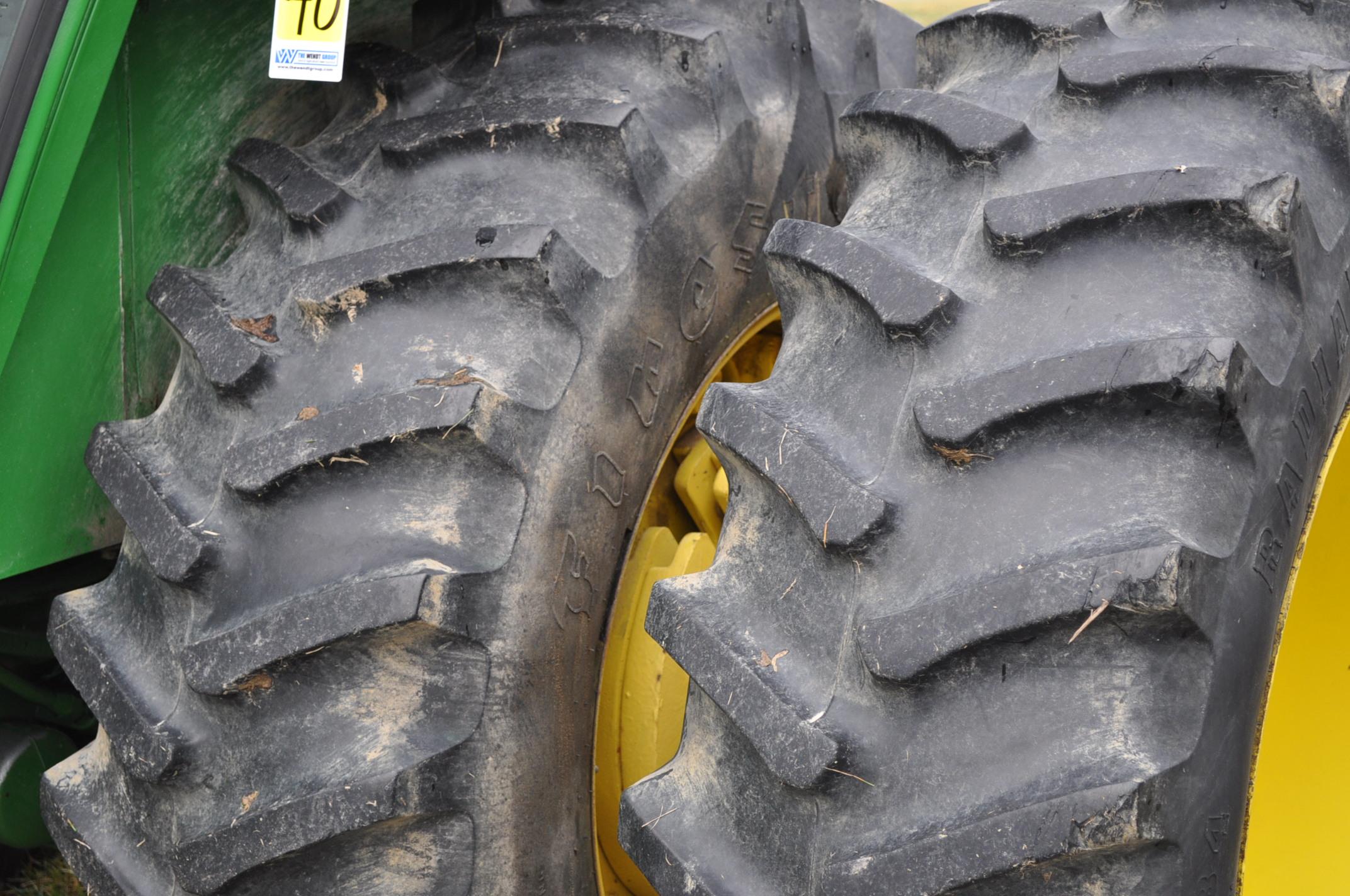 John Deere 4230 tractor, diesel, 18.4-34 hub duals, 10.00-16 front, CHA, Quad range, 2 hyd - Image 6 of 23