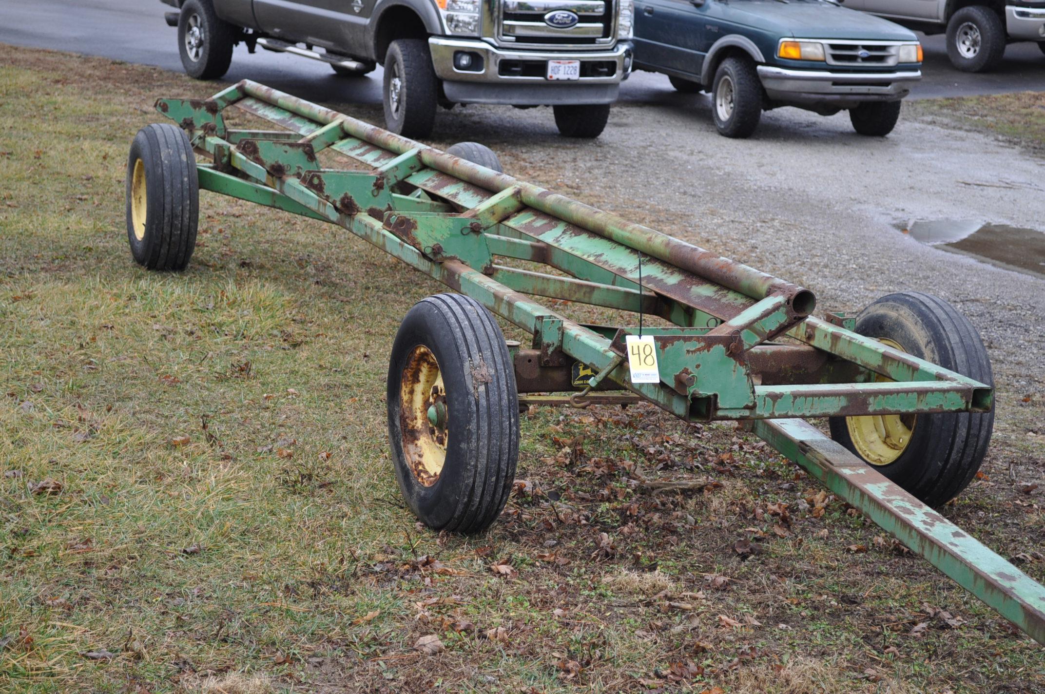 20' John Deere header wagon, 9.5 L-15 tires - Image 5 of 5