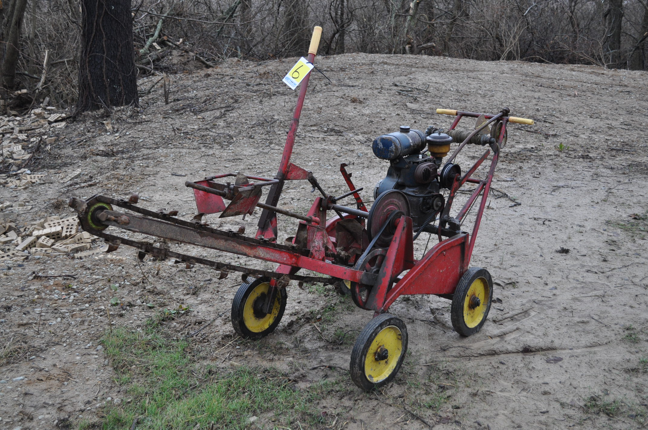 Gas powered walk-behind trencher, Kohler gas