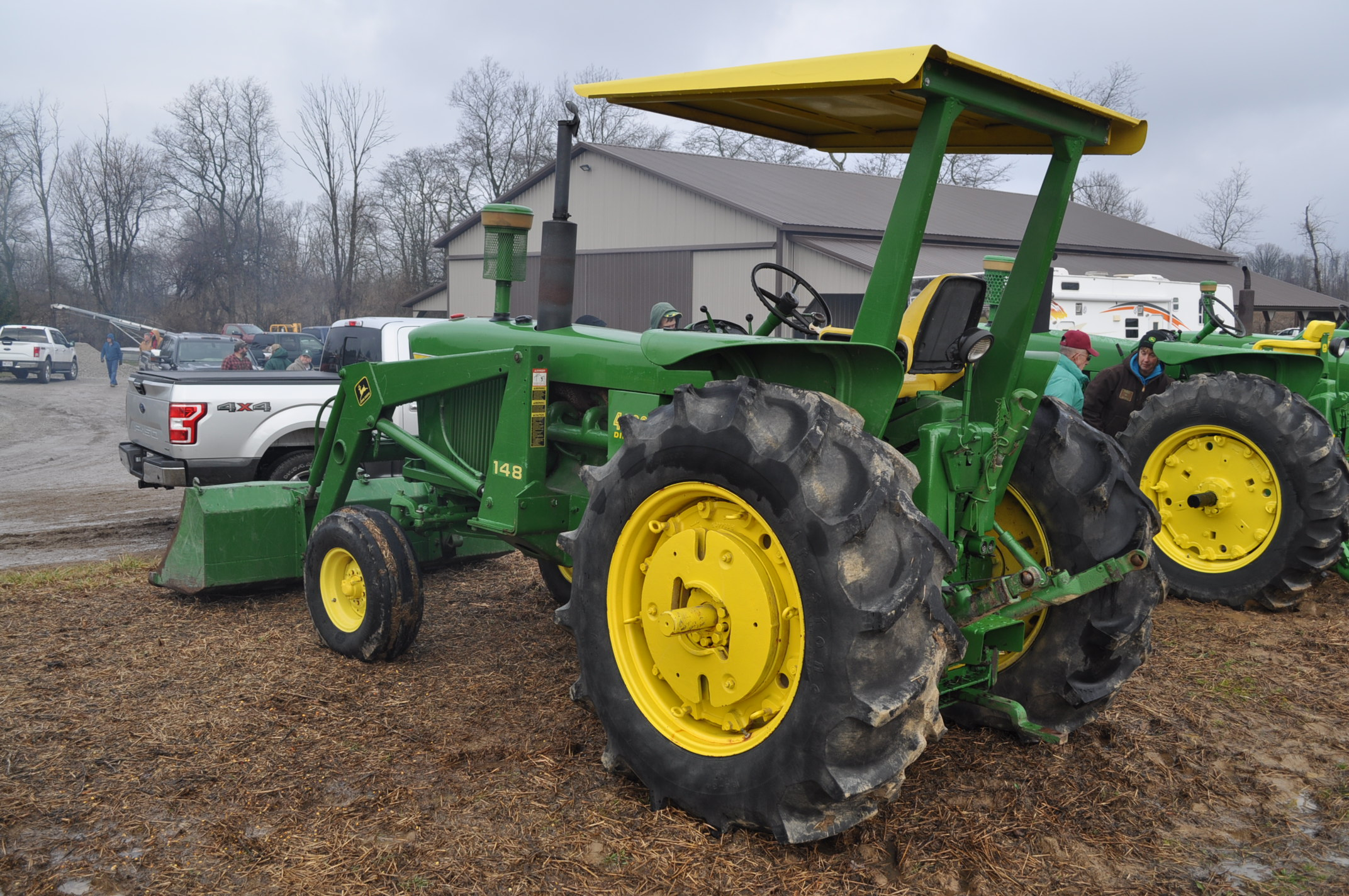 John Deere 4020 tractor, diesel, 18.4-34 tires w/ clamp on dual rims, 11L-15 front, ROPS w/ - Image 2 of 22