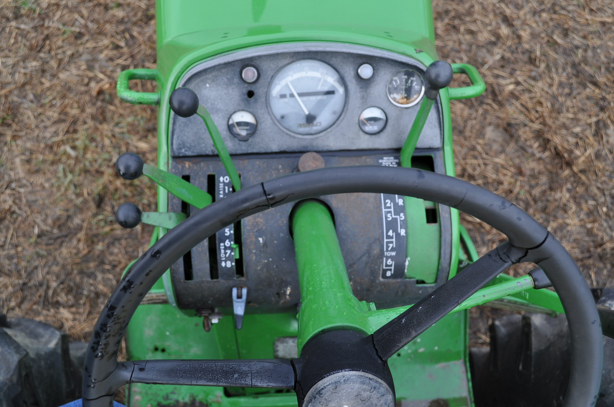 John Deere 3020 tractor, diesel, 18.4-34 rear, clamp on duals, 11L-15 narrow front, Syncro, 2 - Image 14 of 15