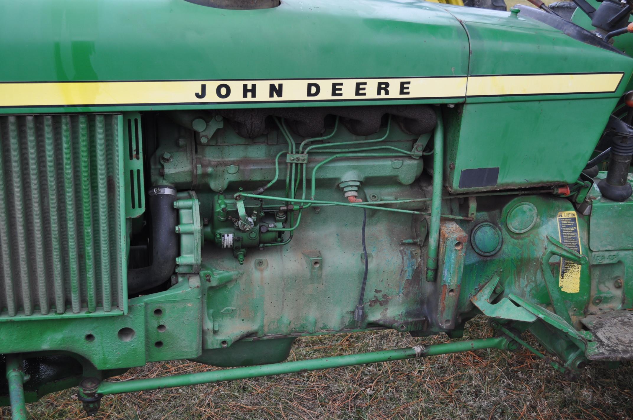 John Deere 2630 tractor, diesel, 16.9-28 rear, 9.5-15 front, 1 hyd remote, 540 pto, 3 pt, 4260 - Image 11 of 18
