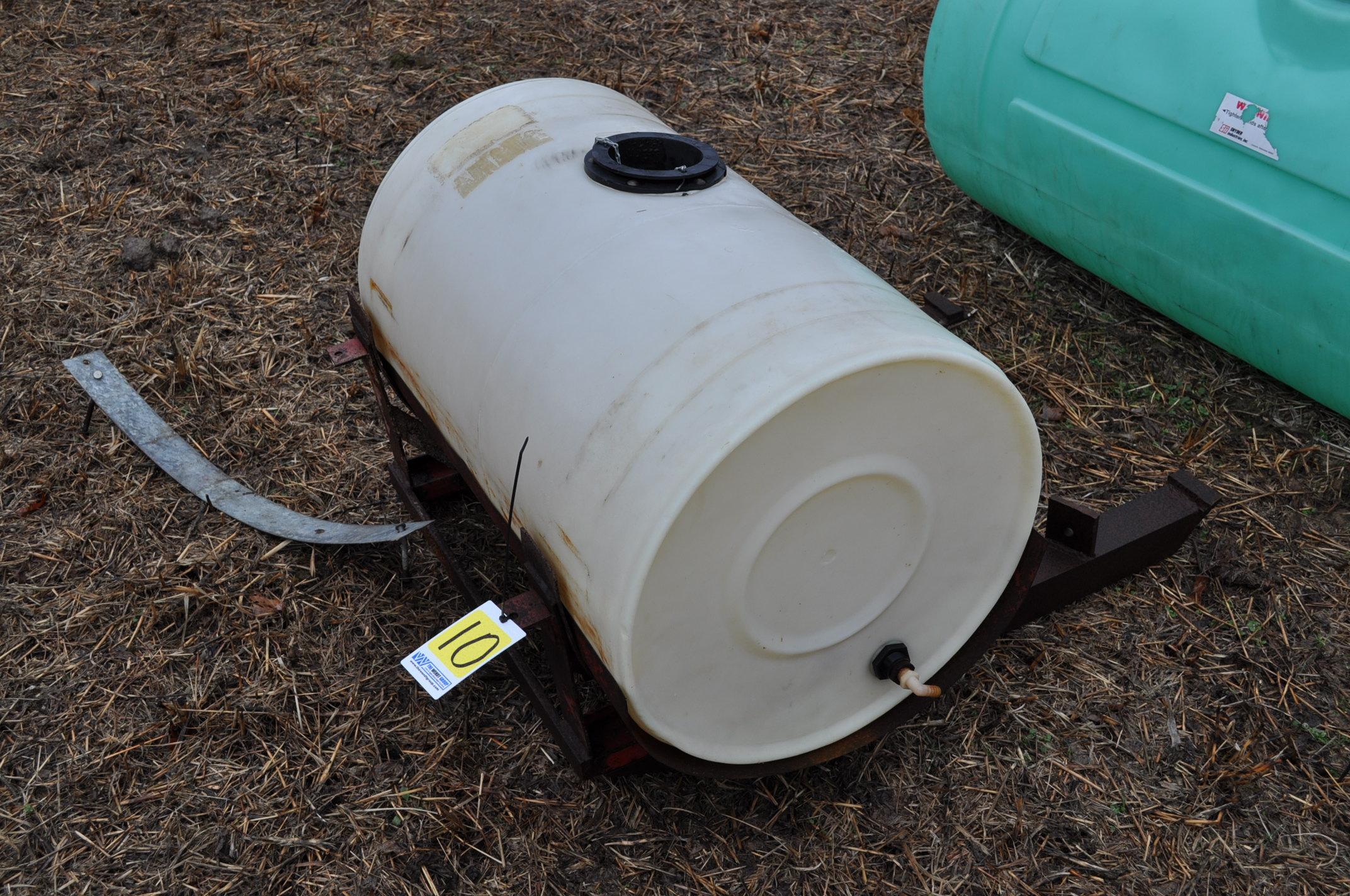 50 gallon front mount poly tank