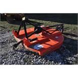 5 1/2' Landpride rotary mower, 3 pt, 540 PTO, tail wheel, SN 655768